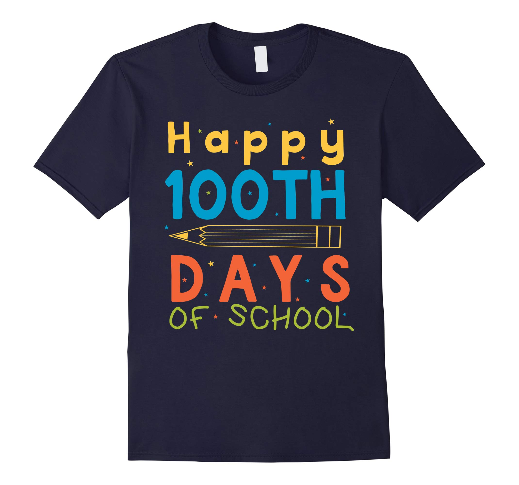 Adorable Happy 100th Day of School Funny Teacher T-Shirt-RT