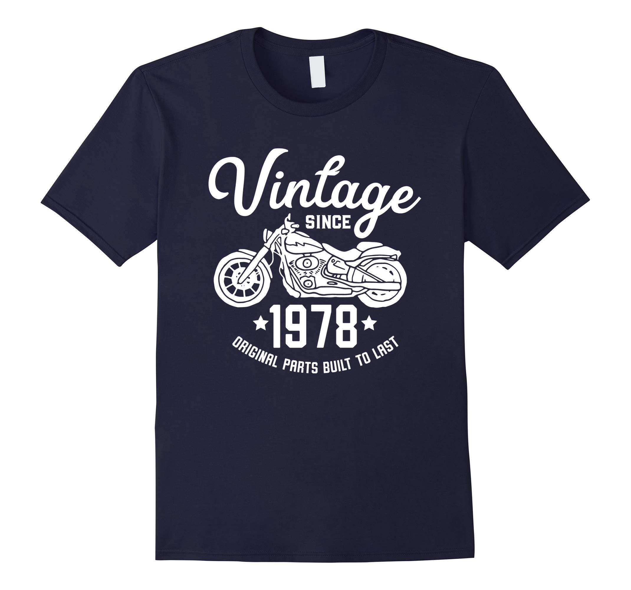 40th Birthday Vintage Retro Motorcycle 1978 Rider T-shirt-RT