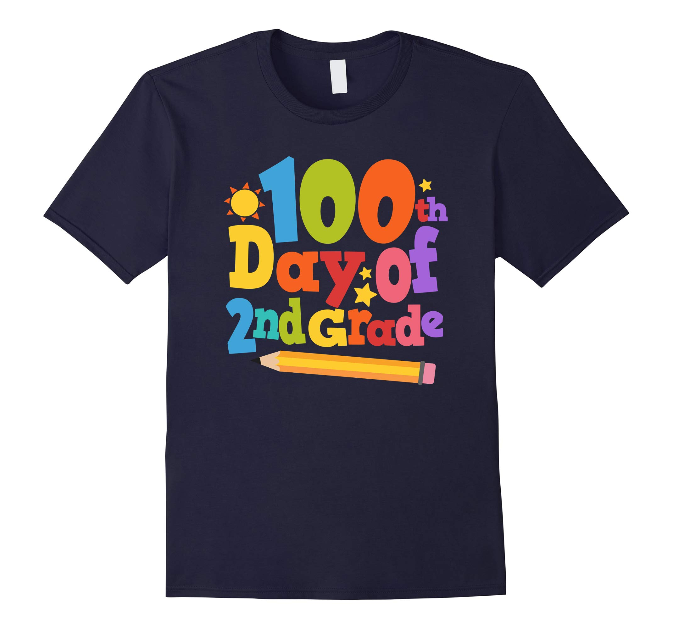 100th Day of School 2nd Grade Shirt Teacher Gift T-Shirt-RT