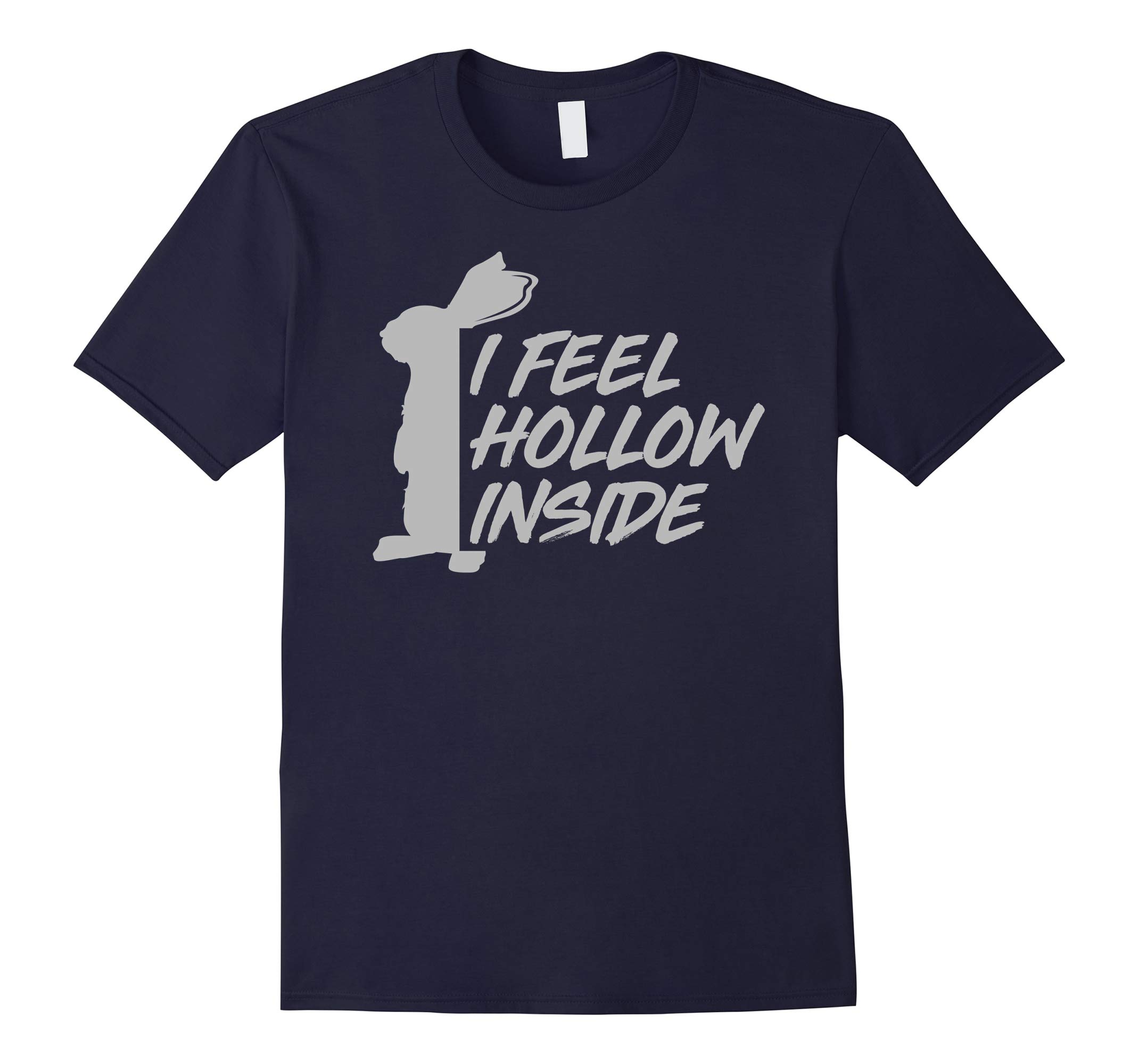 I feel hollow inside funny chocolate easter bunny t shirt-RT