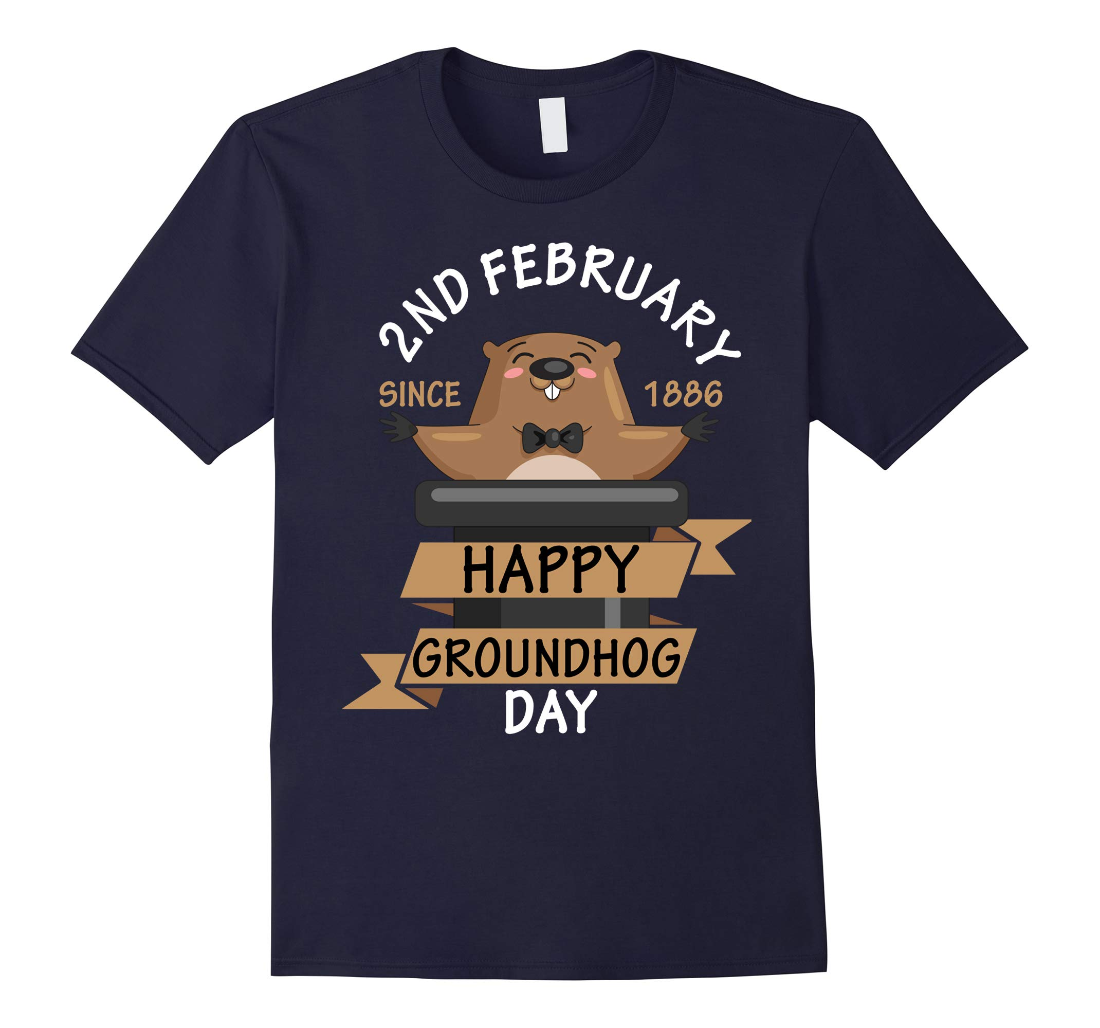 2nd February Since 1886 Happy Groundhog Day T-shirt-RT