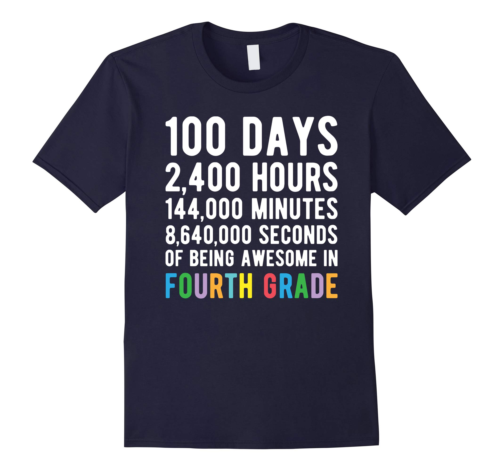 100 Days of School Shirt Fourth Grade 100 Day Countdown-RT