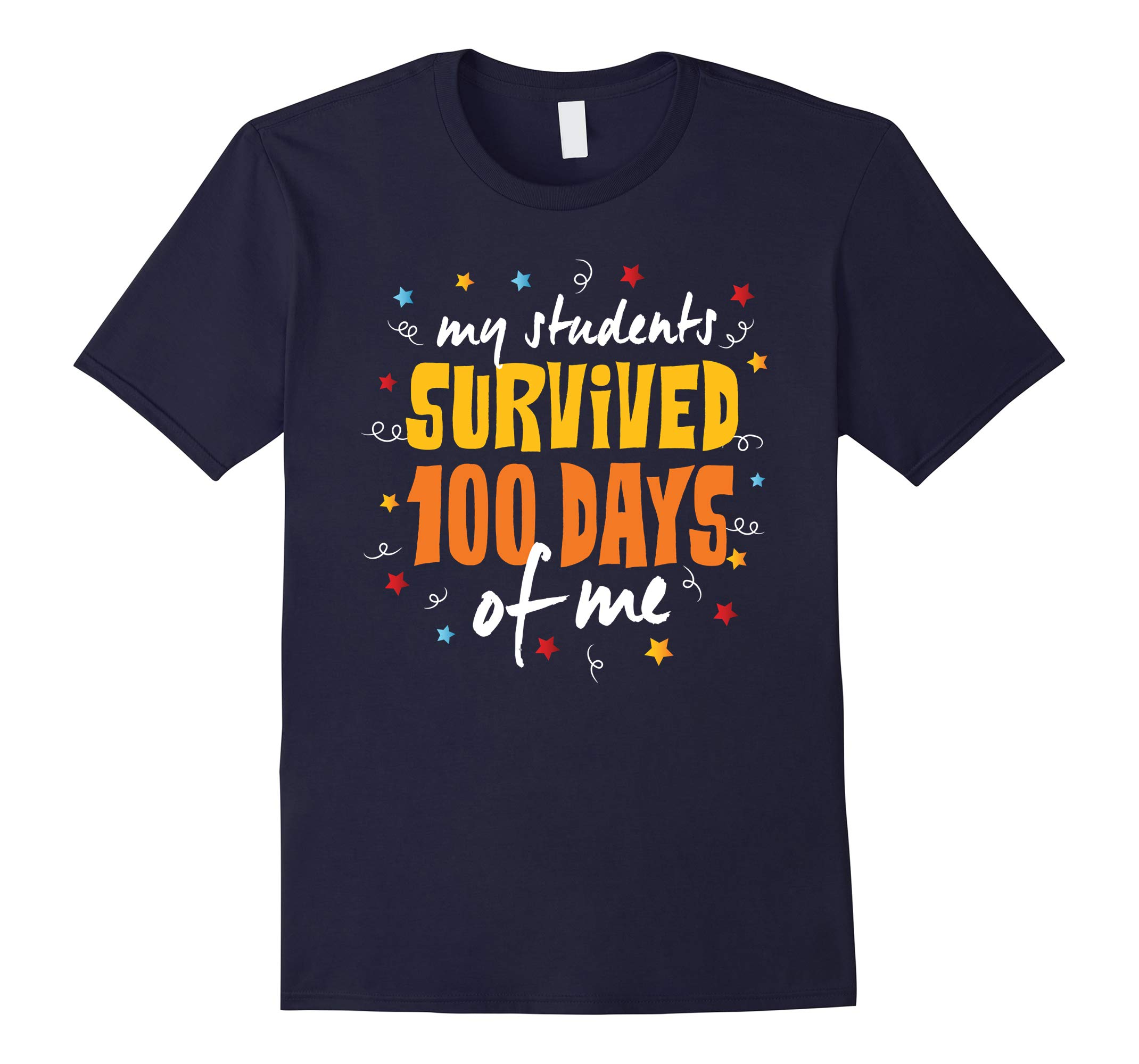 100 Days Of School T Shirt Students Survived Me-RT