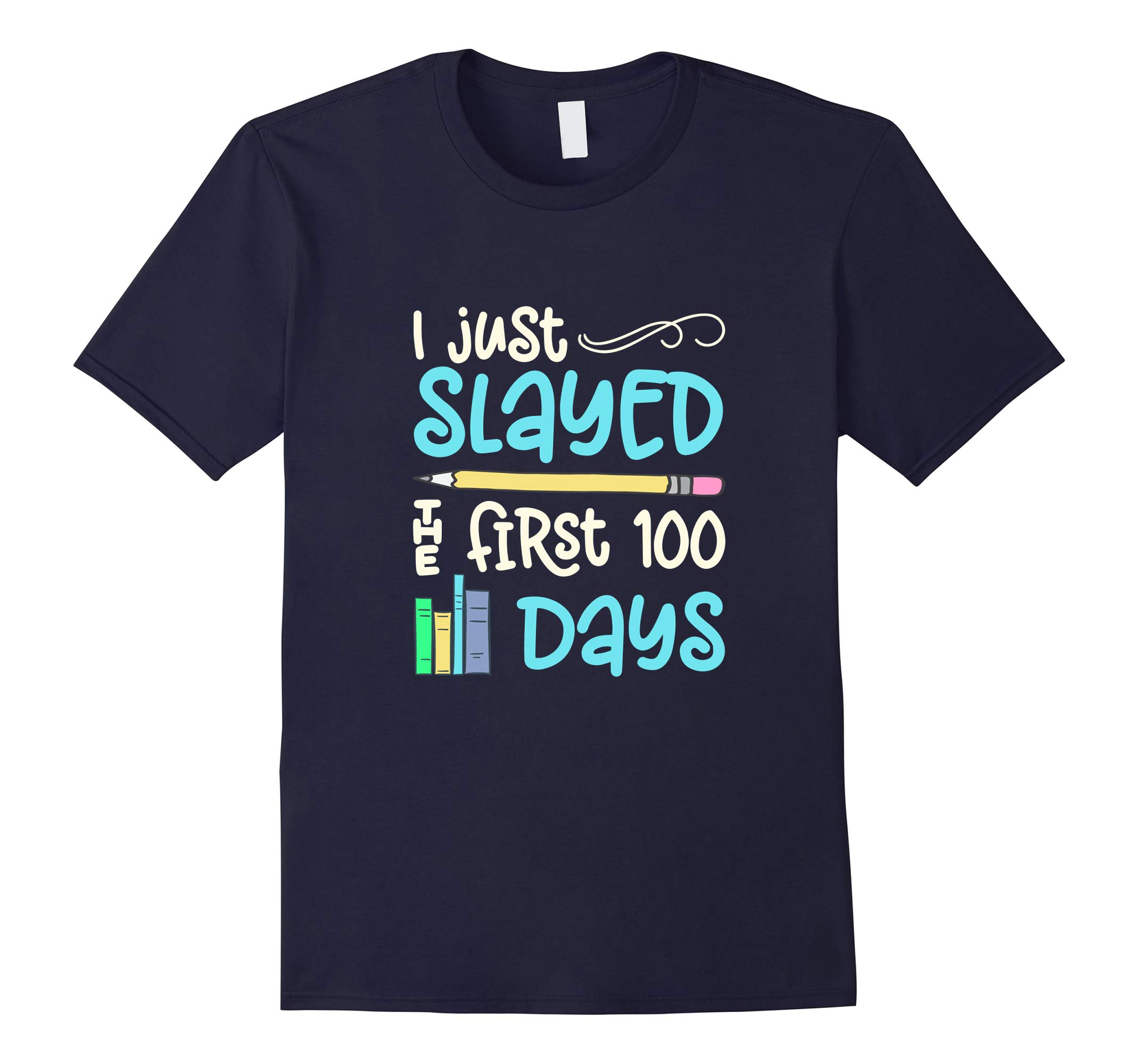 100 Days School Shirt For Teachers Students Book Graphic Tee-RT