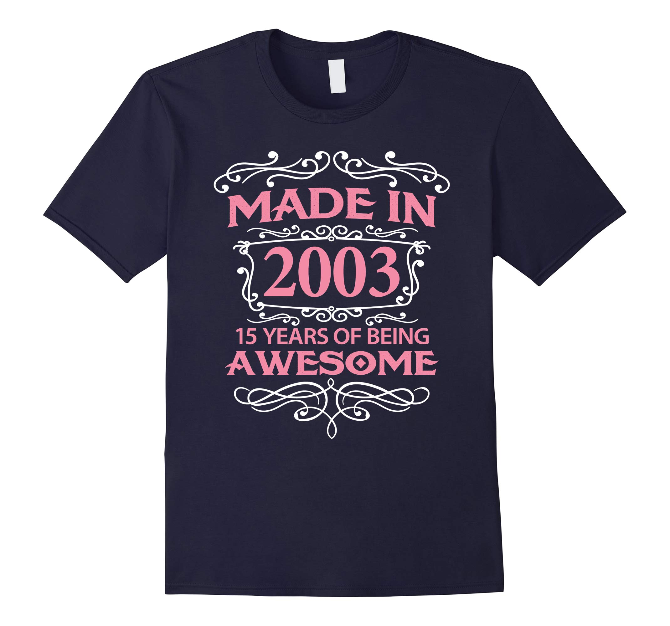 15th Birthday Gift T-Shirt Made In 2003 - 15 Years Old Shirt-RT