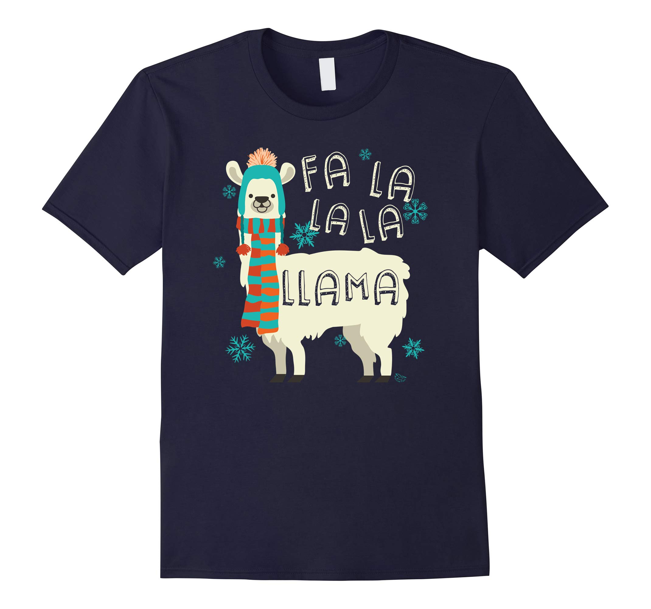 Fa La La La Llama T-Shirt | Cute Llama Christmas Shirt-RT