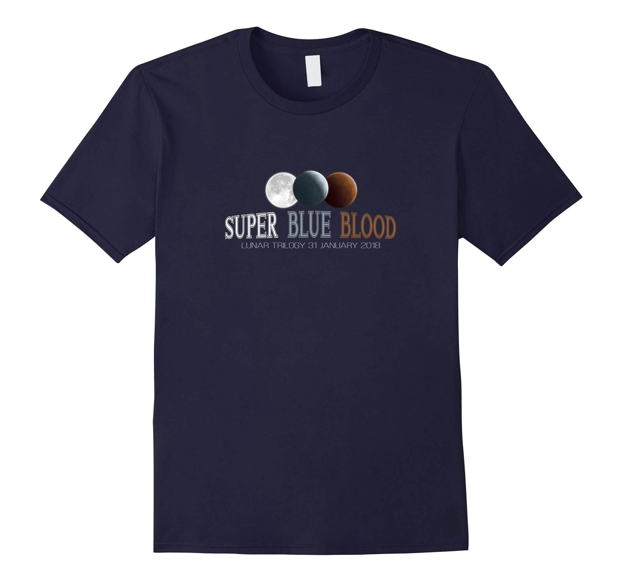 2018 Lunar Eclipse Shirt Super Blue Moon T-shirt-RT