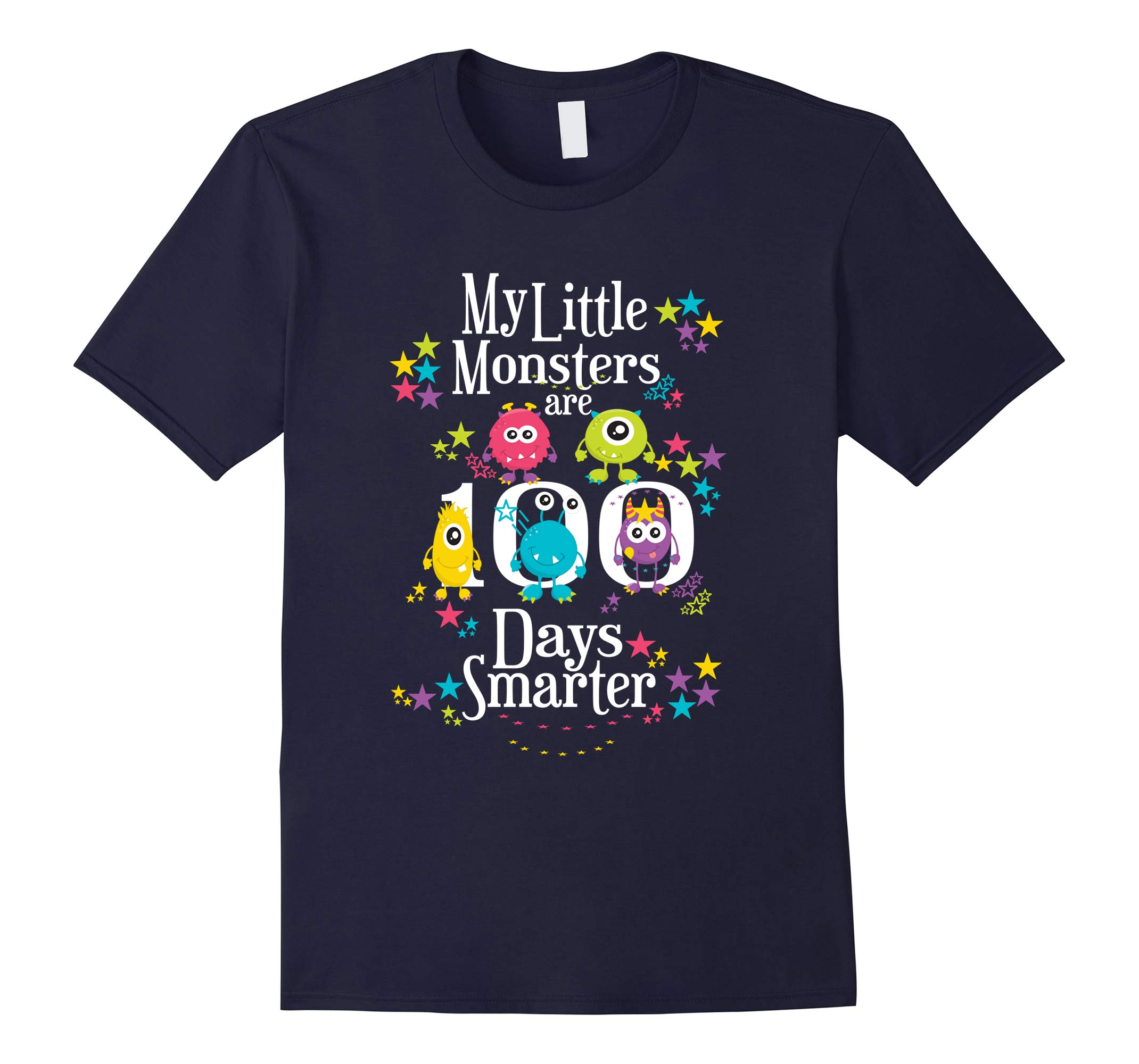 100 Days Teacher Shirt- Funny My Little Monsters-RT