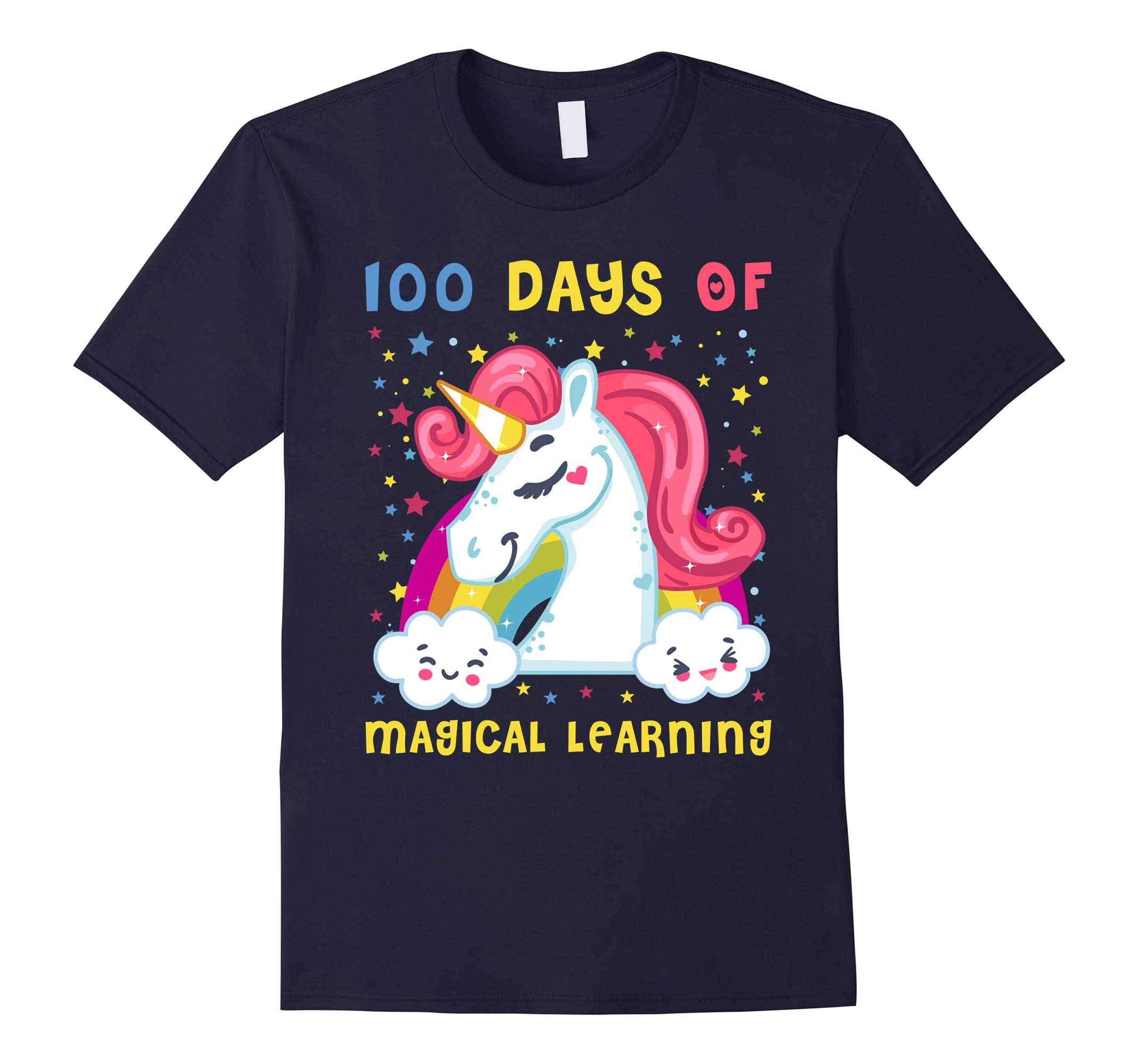 100 Days Of Magical Learning Cute 100th day of School Shirt-RT