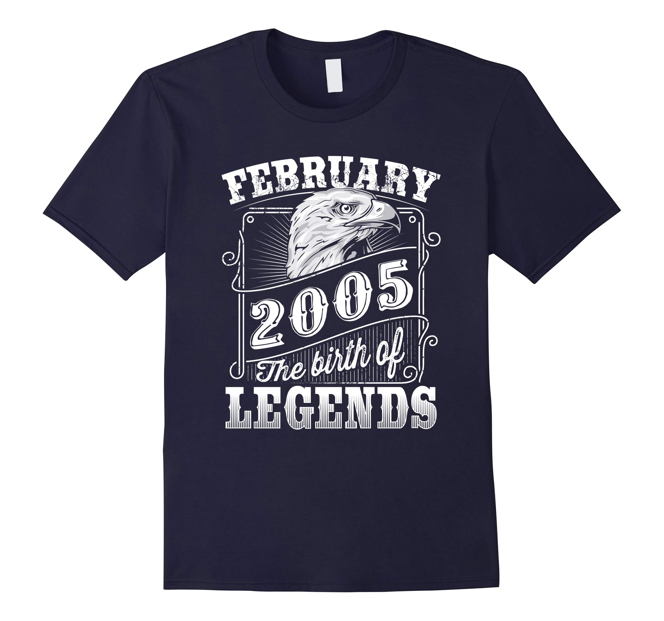 13 years 13th Birthday February 2005 Birth of Legend T-Shirt-RT