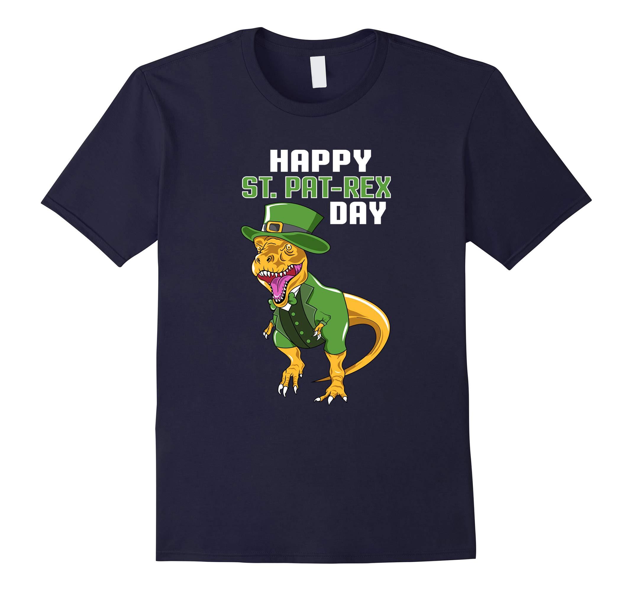 Happy St Pat-Rex Day Dinosaur St Patrick's Day T-Shirt-RT