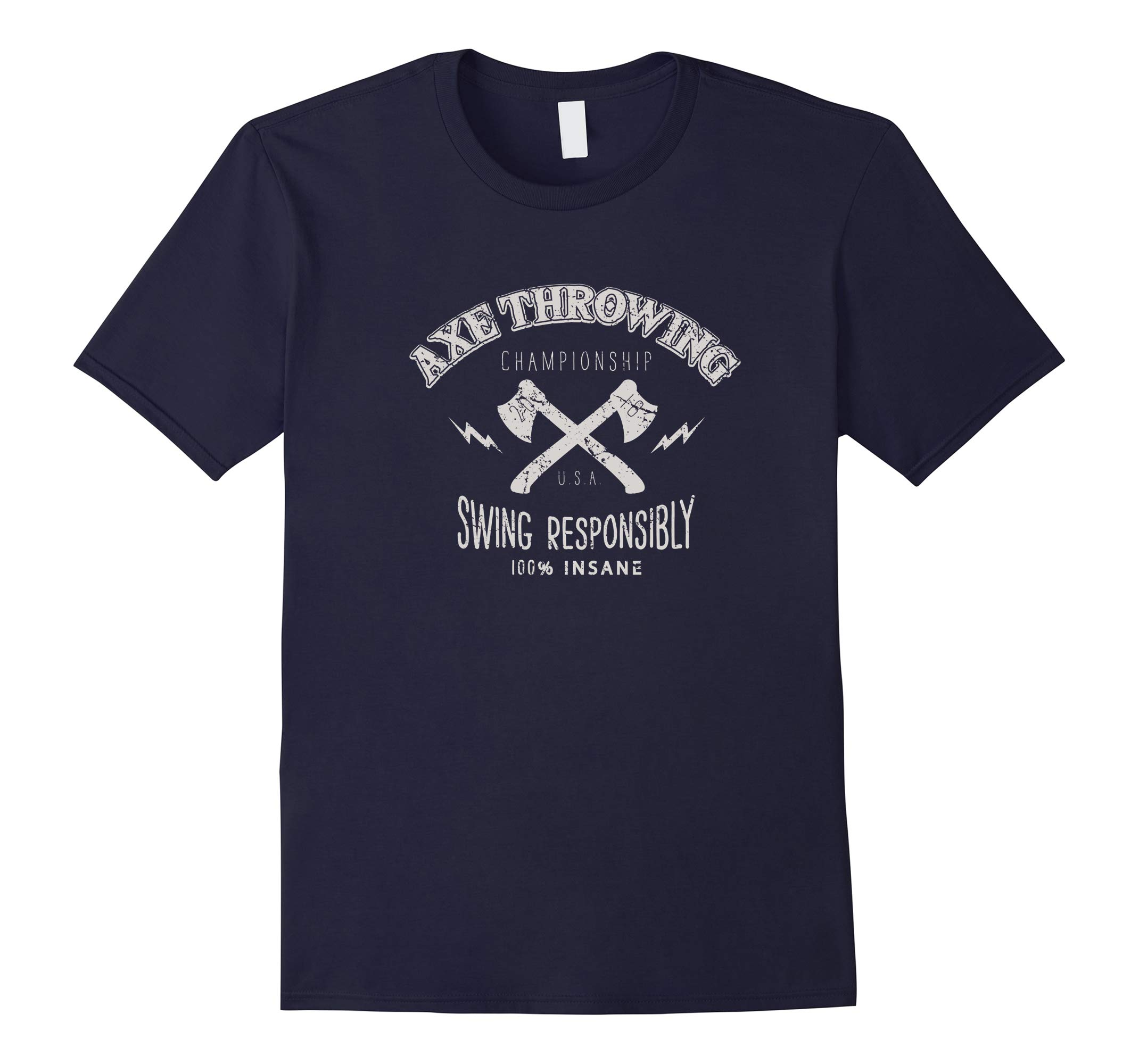 axe throwing tee, swing responsibly-RT