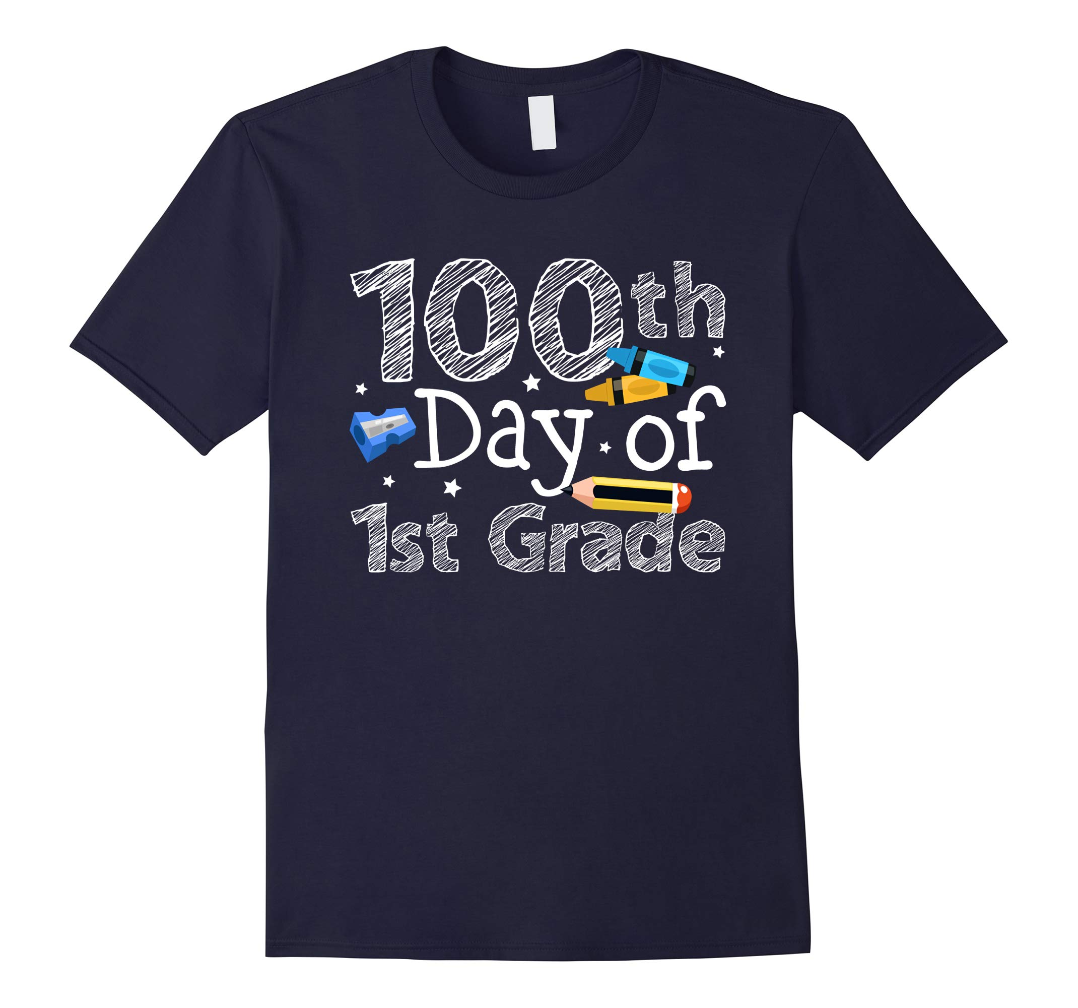 100th Day Of 1st Grade Teachers Students T-Shirt-RT