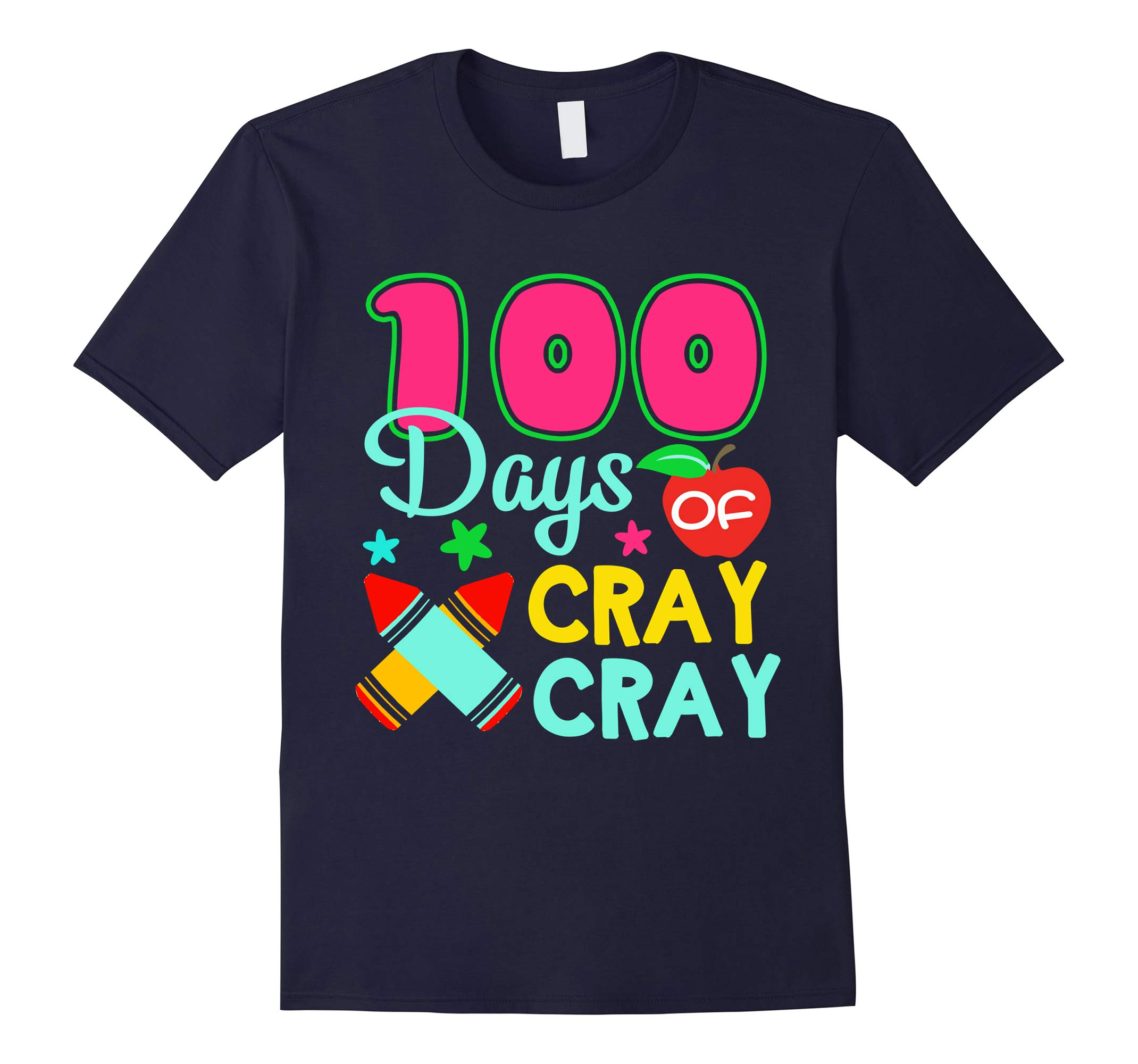 100 Days of Cray Cray 100th Day of School Kid Tshirt-RT