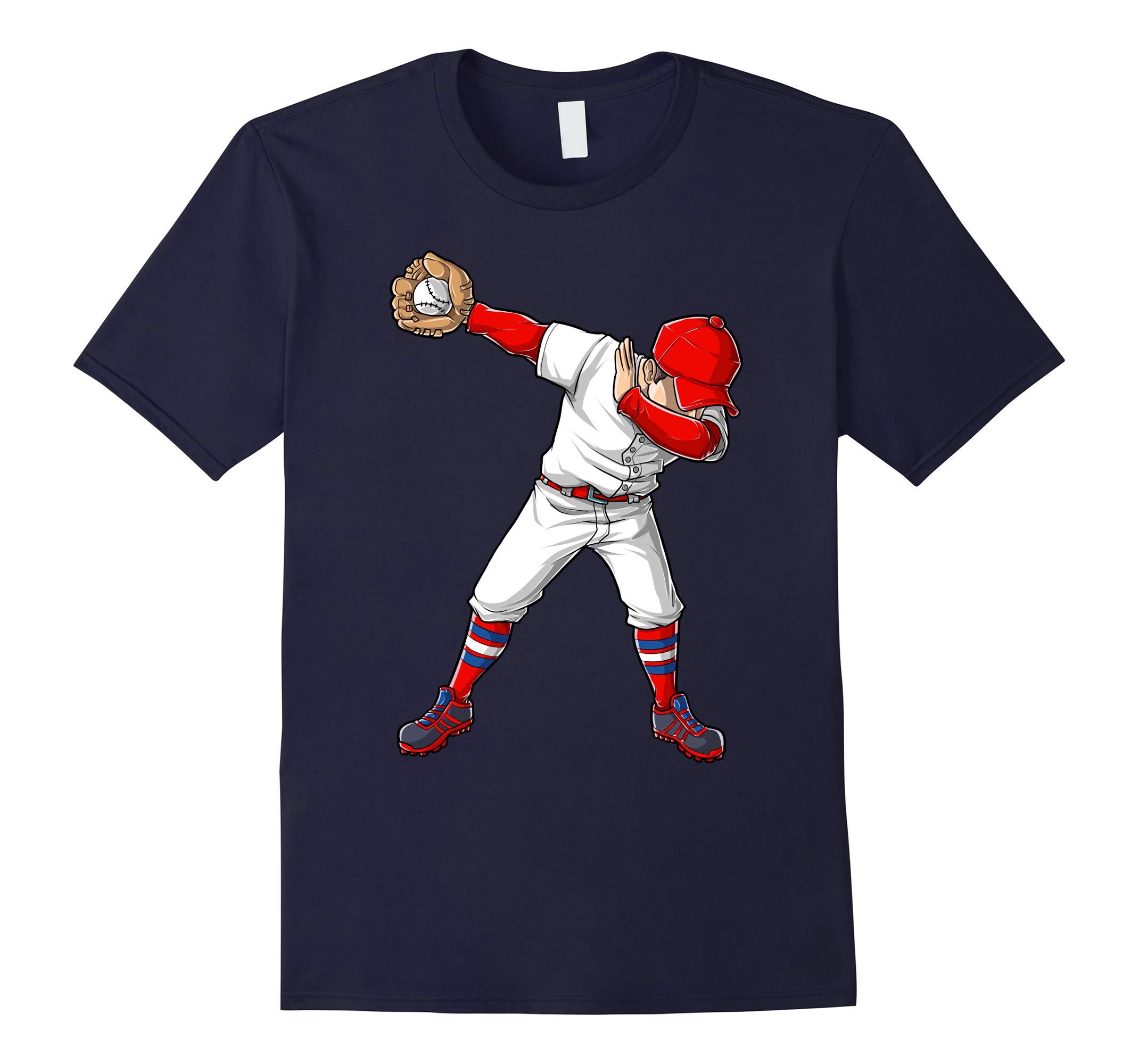 Baseball Dabbing T Shirt Funny Dab Dance Shirts Boys Girls-RT