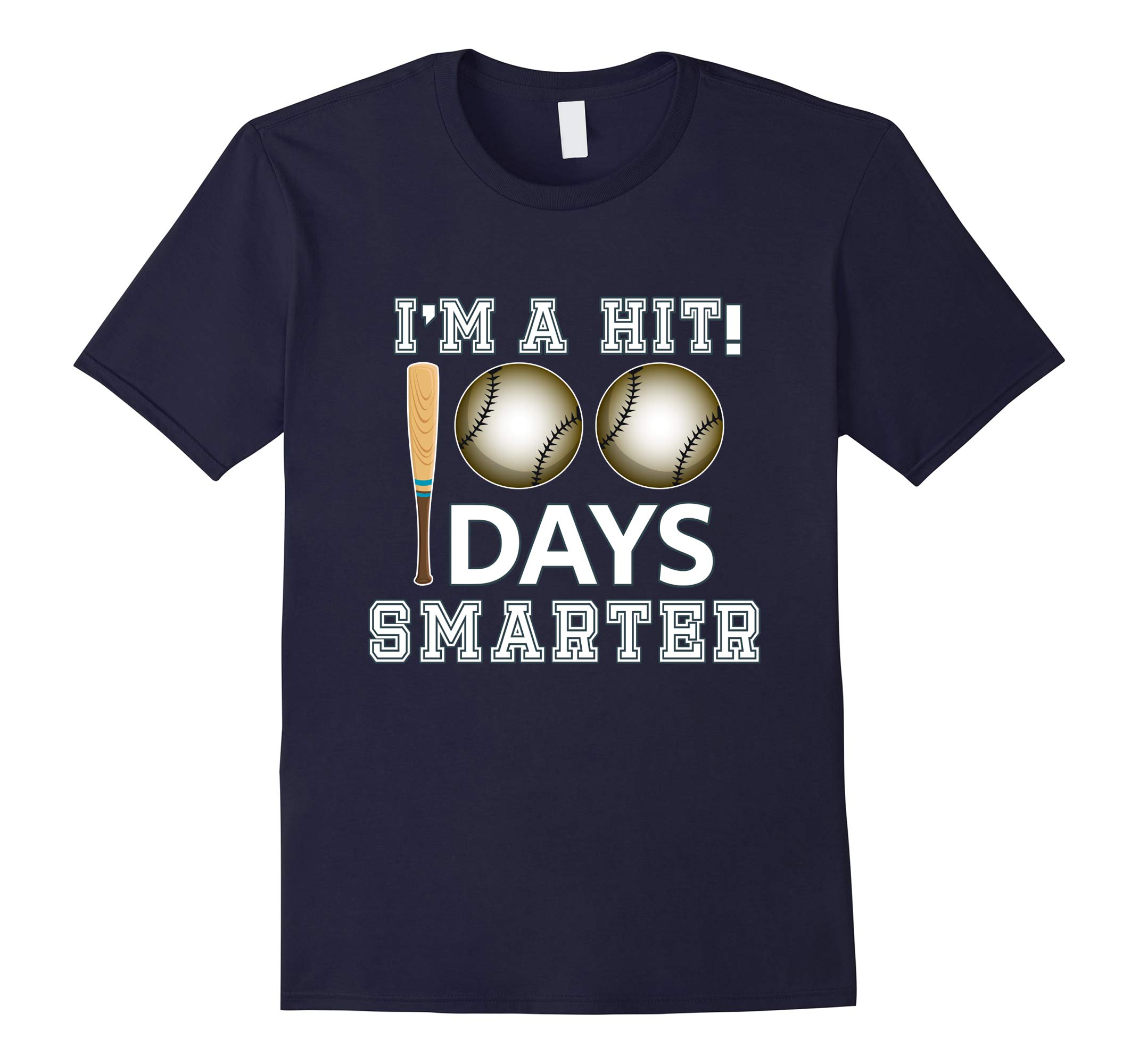 100th Day Of School Shirt Party 100 Days Baseball Sport Idea-RT