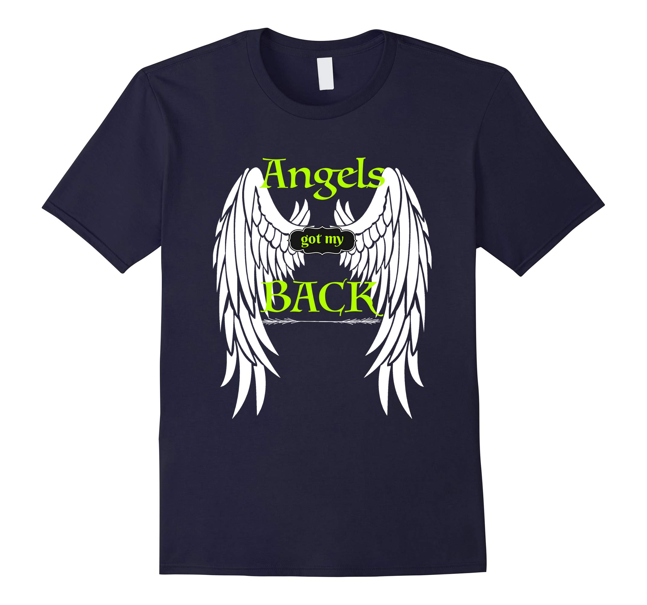 Angels Got my Back T-shirt Inspirational Religious Tee Wings-RT