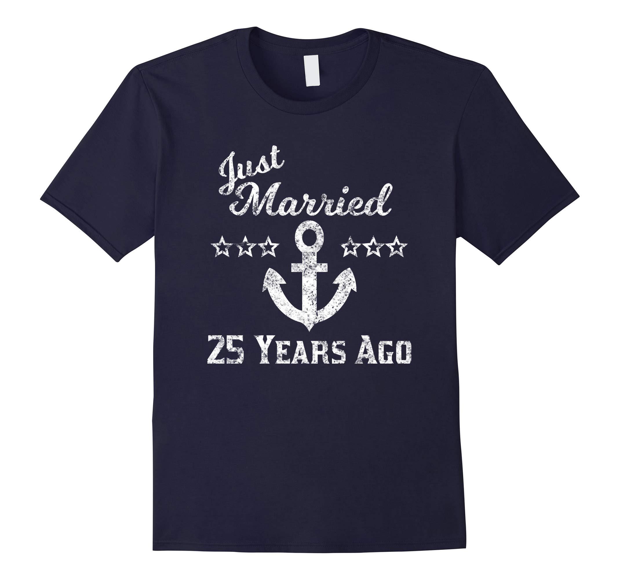 25th Anniversary Cruise Shirt Just Married 25 Years Ago-RT
