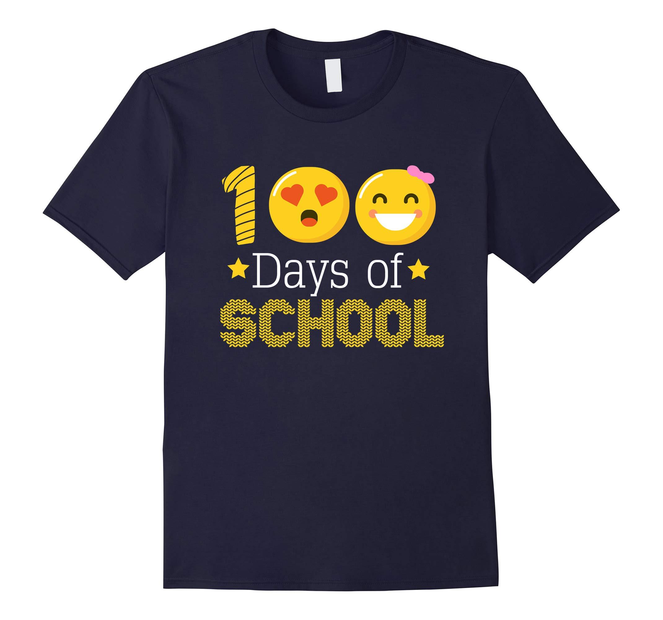 100 Days of School Shirt - Emoji Shirt-RT
