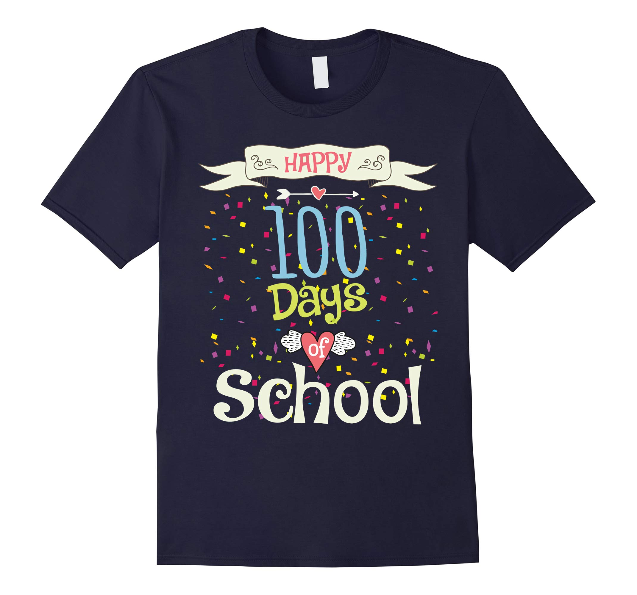 100 Days Of School Shirt for Kids, Boy & Girl, Happy 100th-RT