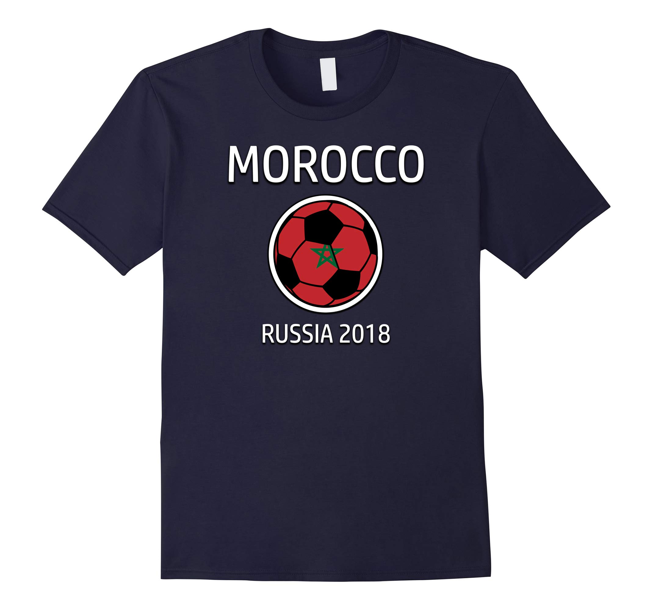 Morocco Soccer Team Russia 2018 T Shirt Football Fan-RT