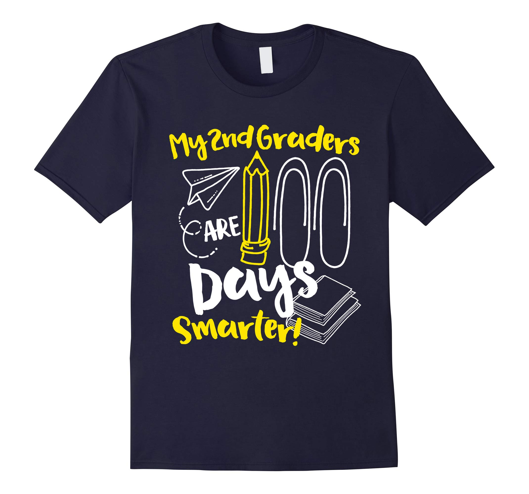 100th Day of School 2nd Grade Teacher Shirt-RT