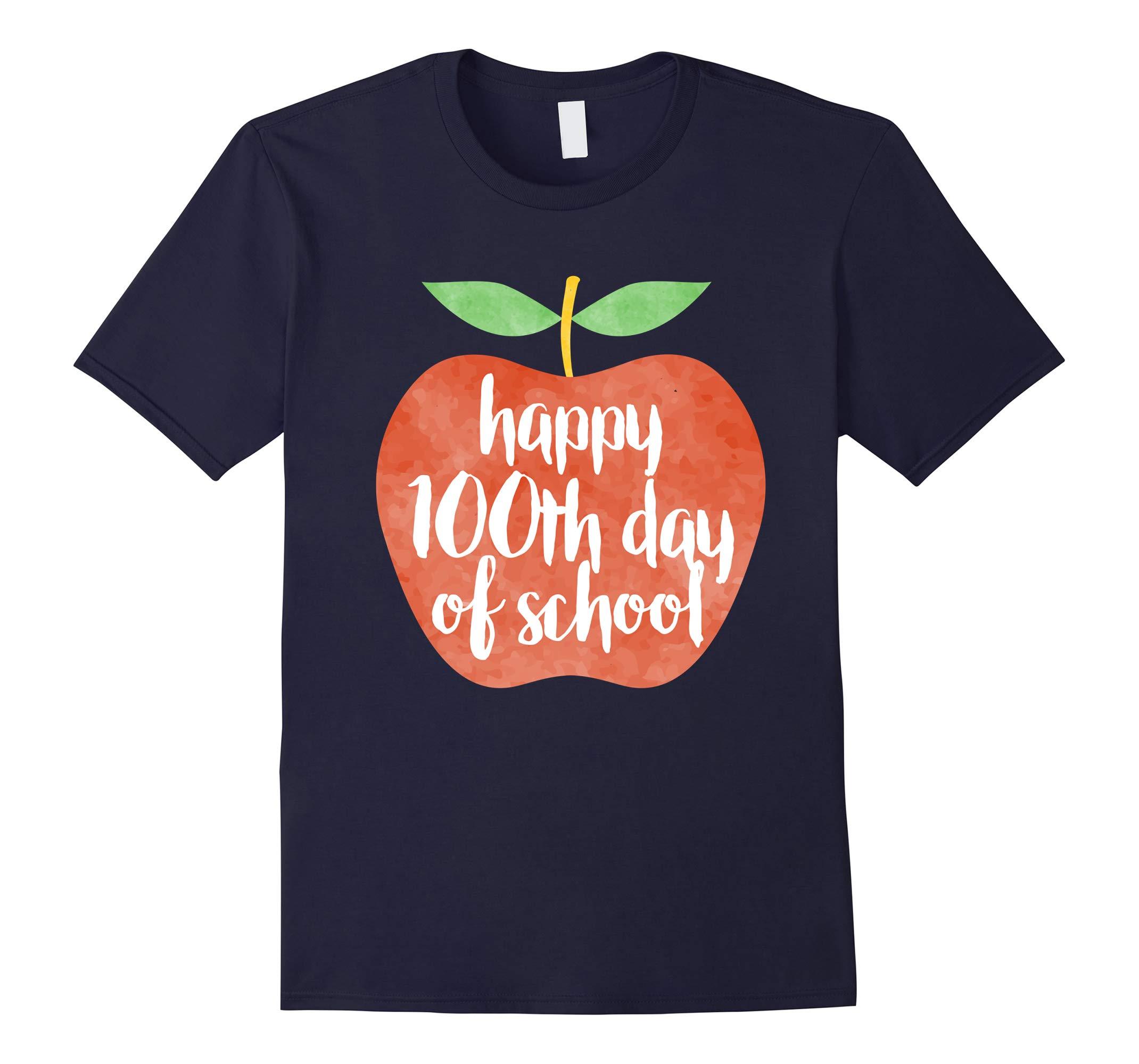 100 Days of Shool T-Shirt Apple Shirt For Teacher-RT