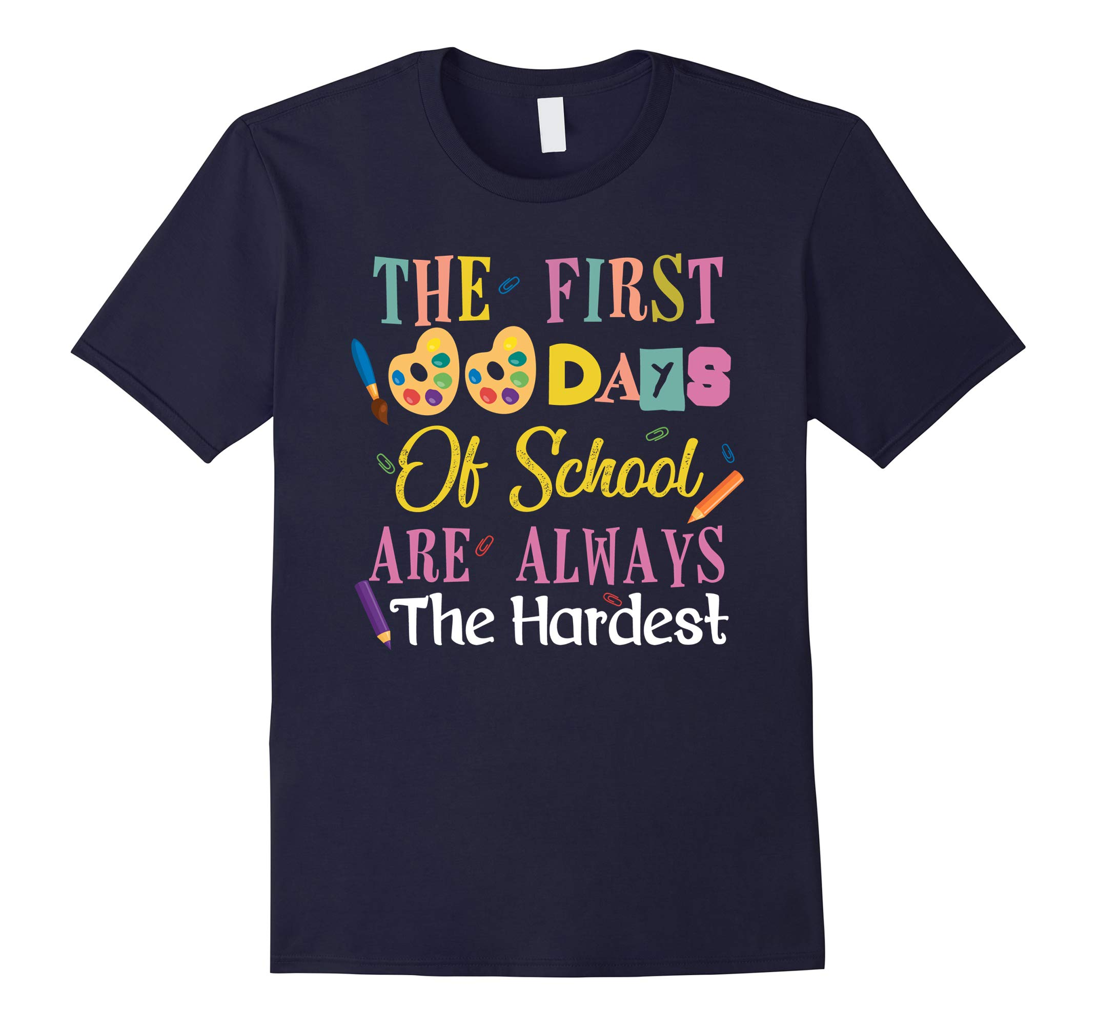 100th Day School Shirt The First 100 Days Of School T Shirt-RT