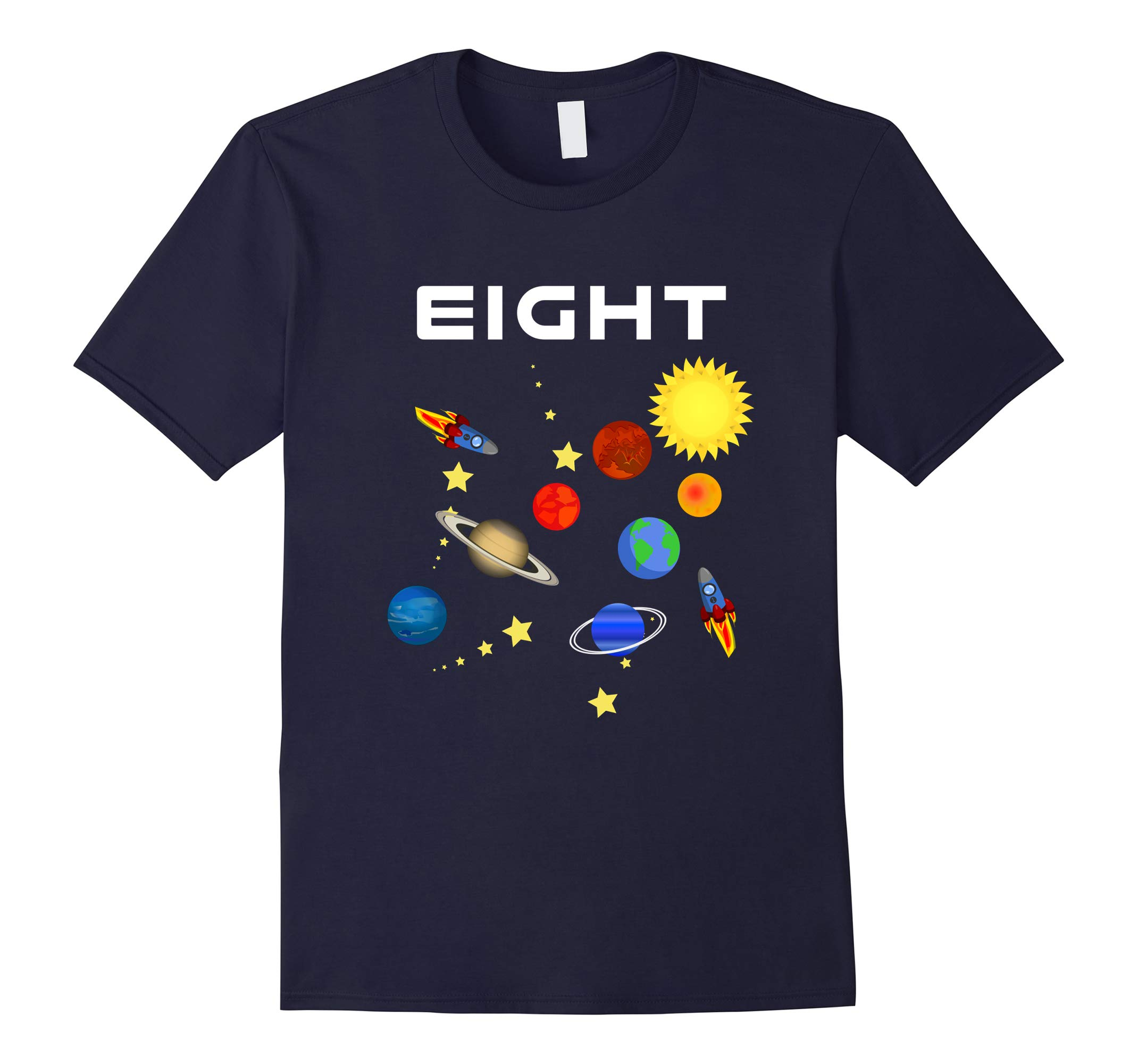 8 Year Old Outer Space Birthday Party 8th Birthday T-Shirt-RT