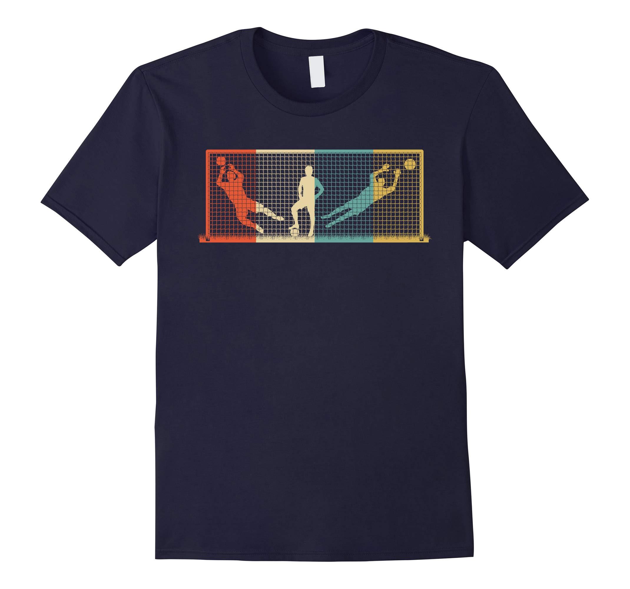 Vintage Goal Keeper T-Shirt Soccer Goalie Gift-RT
