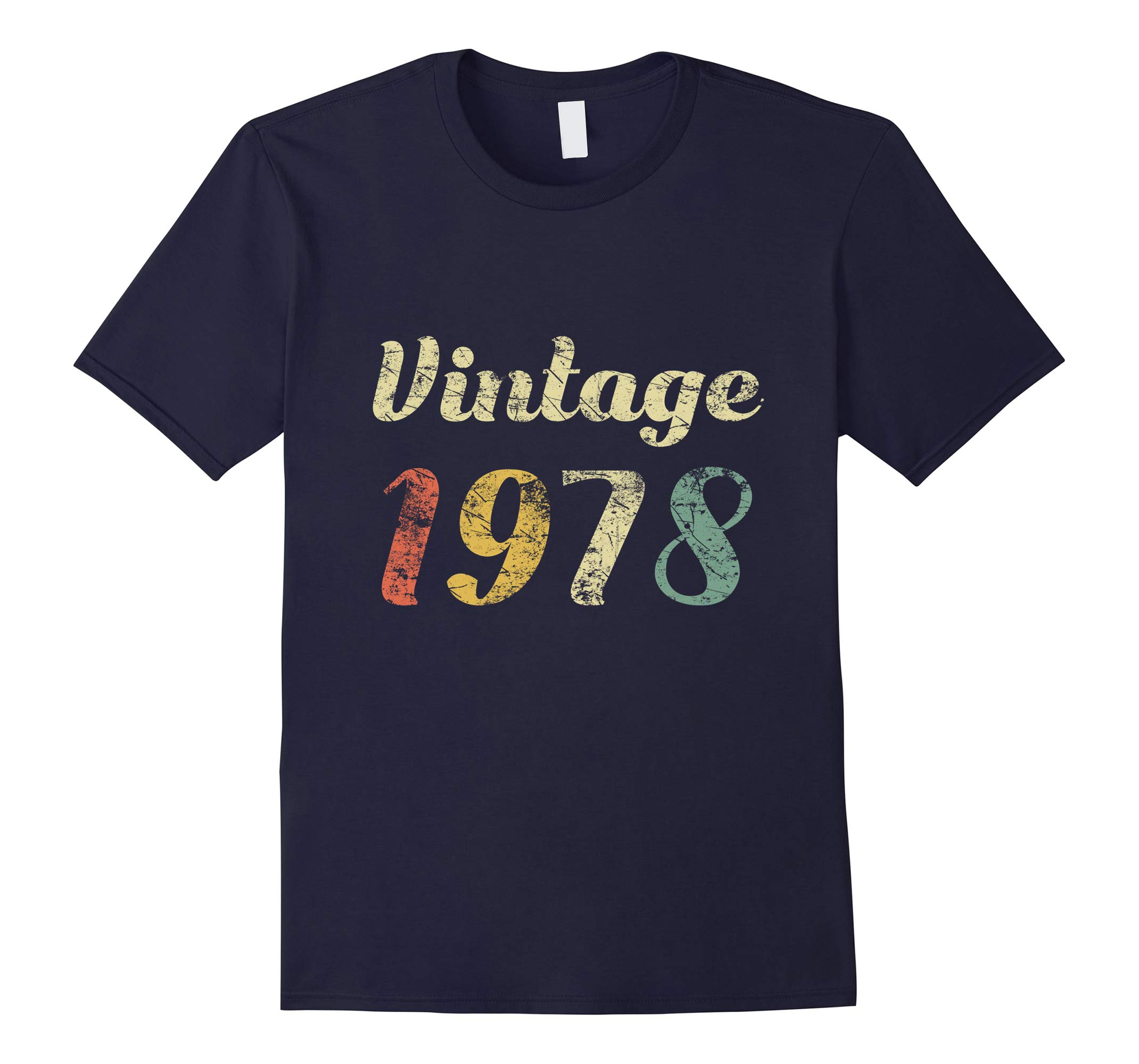 40th Birthday Gift Shirt Distressed Vintage 1978 Tee-RT