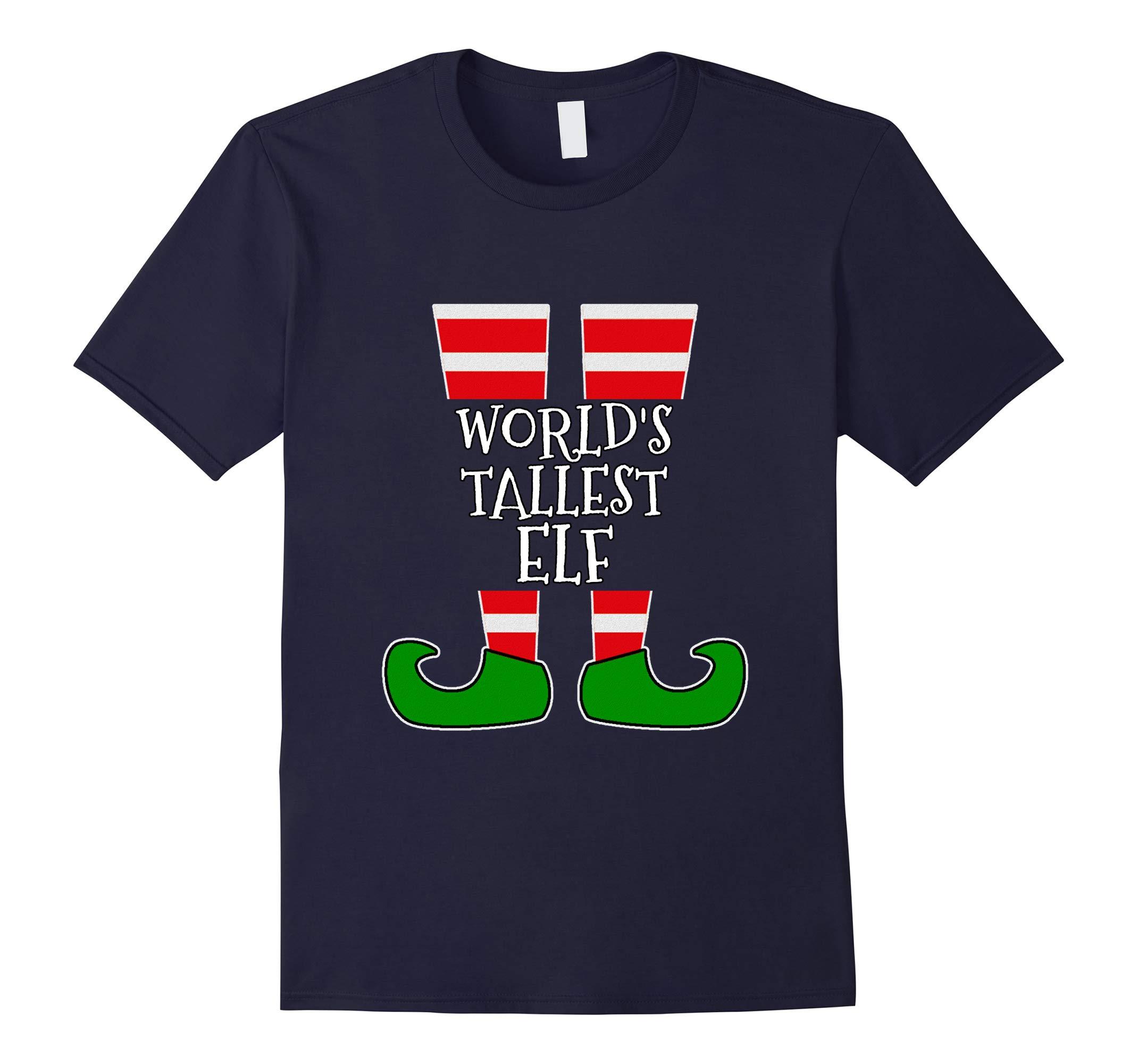 WORLD'S TALLEST ELF T-Shirt Funny Christmas Elf Shirt Gift-RT