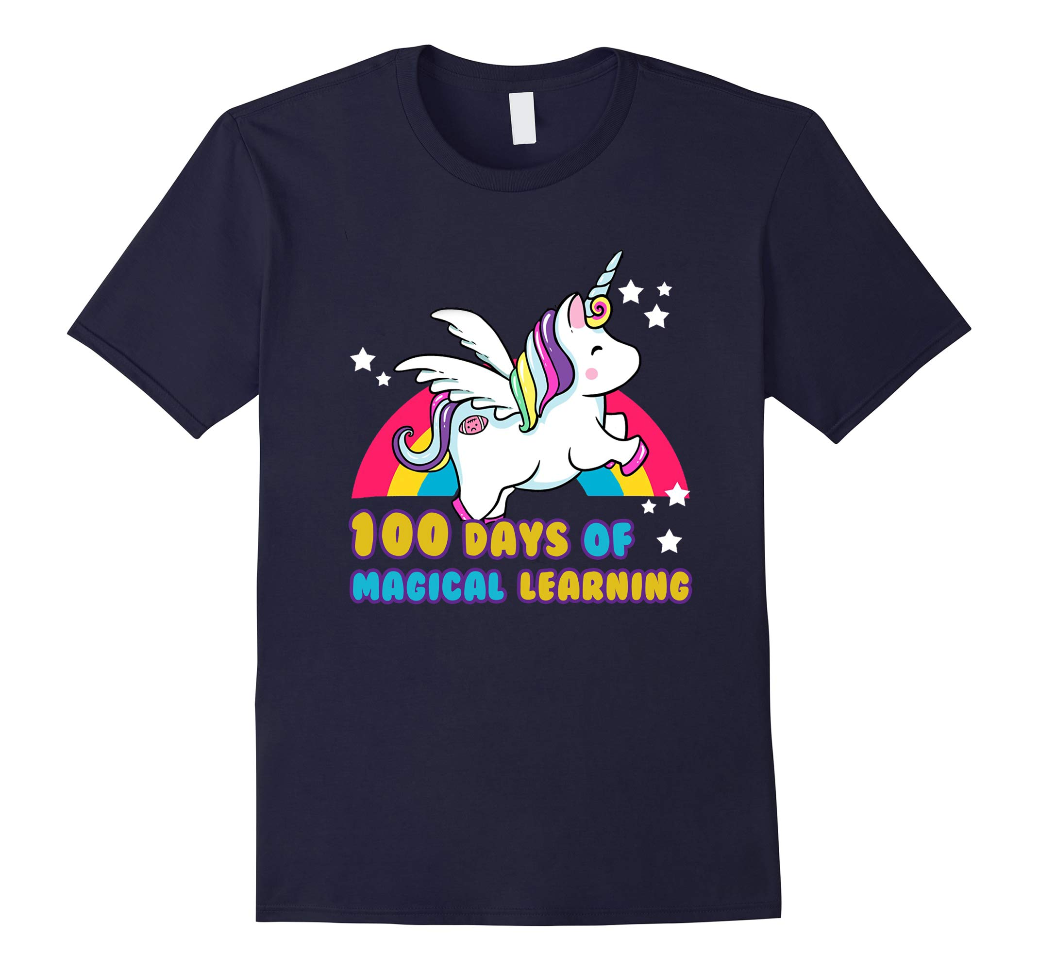 Happy 100th Day of School Unicorn T-shirt-RT