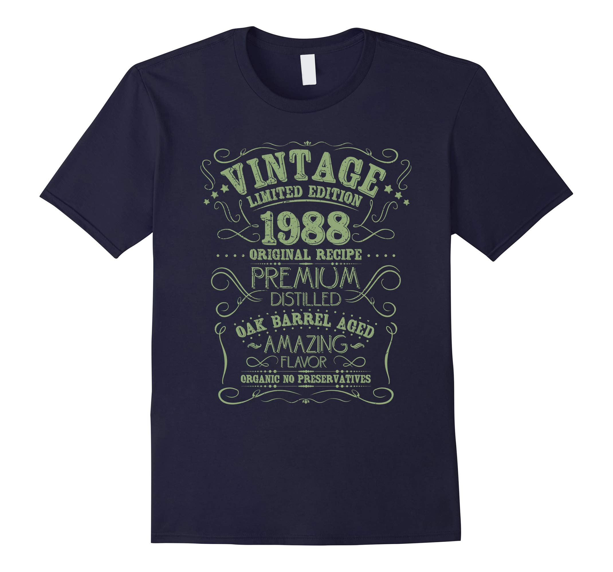 Vintage 1988 30th Birthday Shirt Grunge Distressed Gift Tee-RT