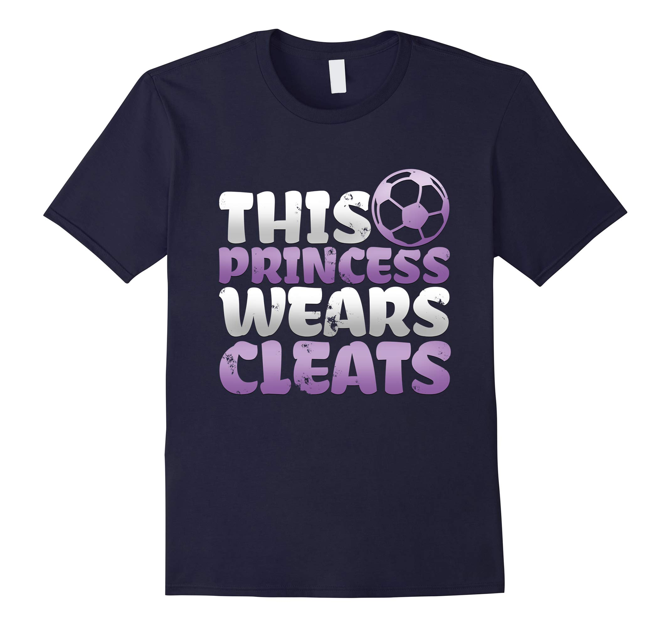 This princess wears cleats soccer girls-RT