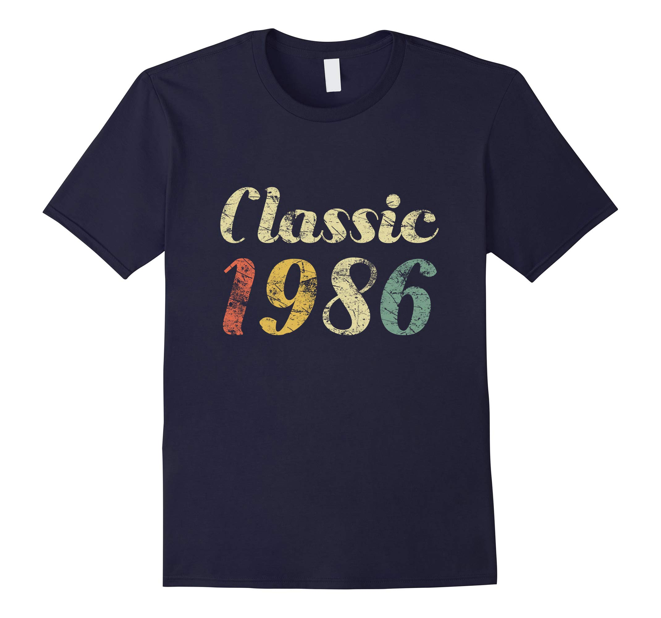32 Year Old Vintage Distressed Birthday Gift 1986 Shirt-RT