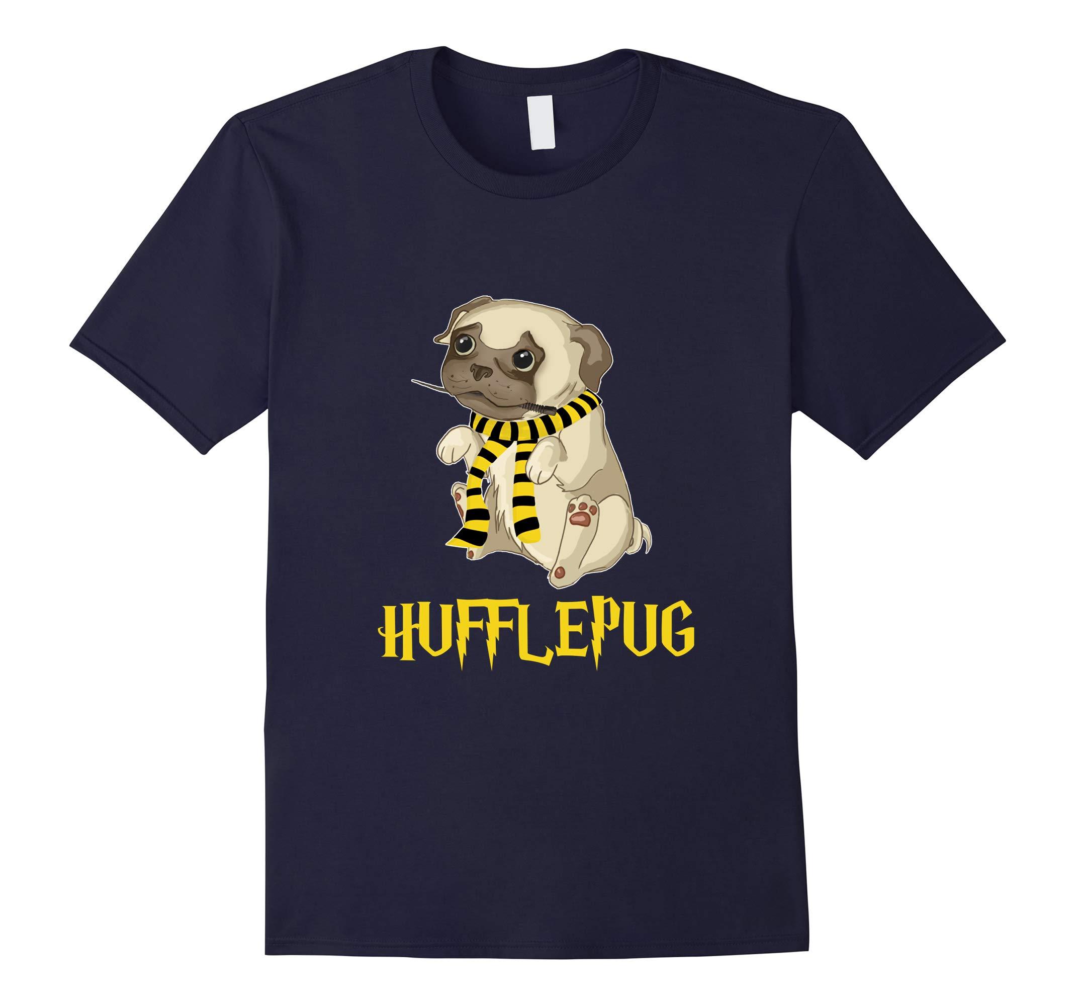 Hufflepug pug dog lover T shirt-RT
