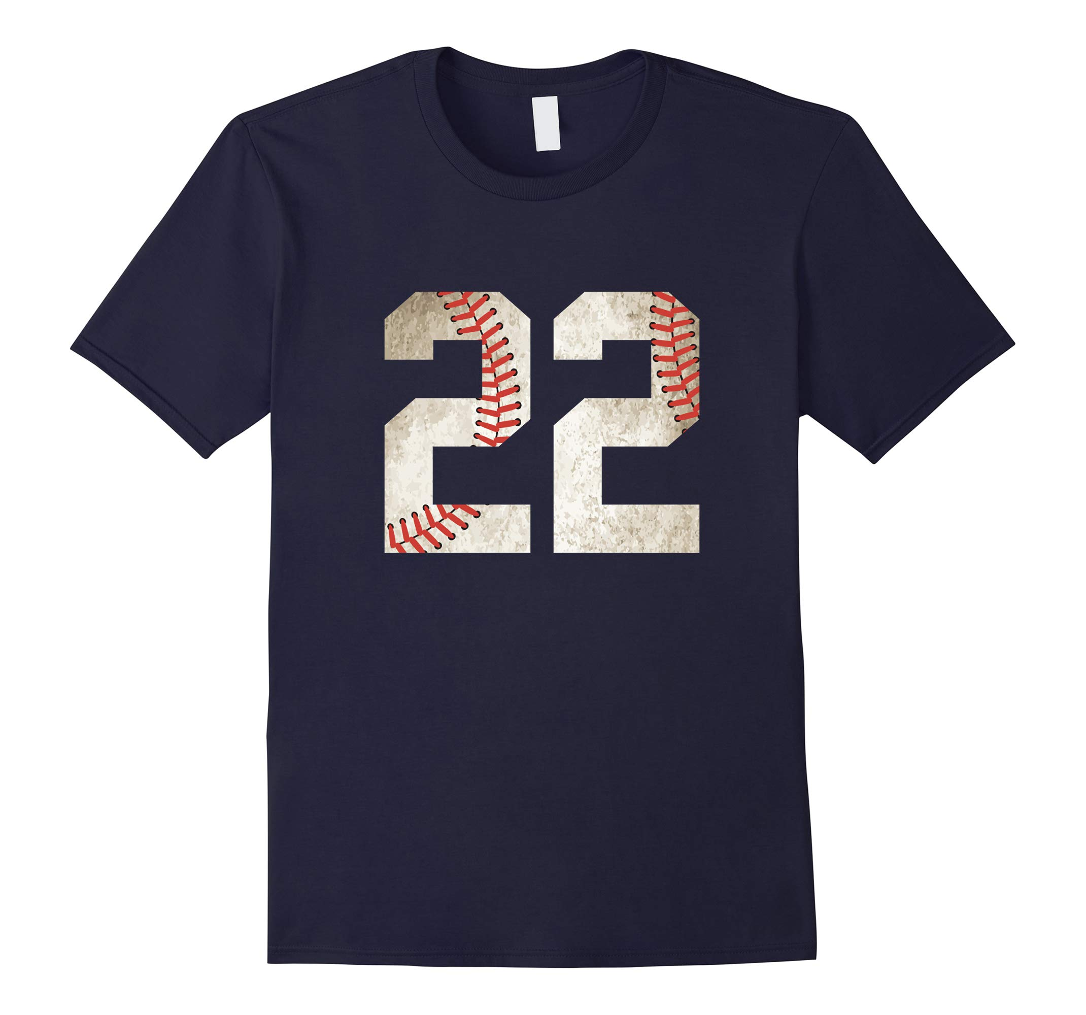 22 Baseball Jersey Number T-Shirt for Team Fan Player #22-RT