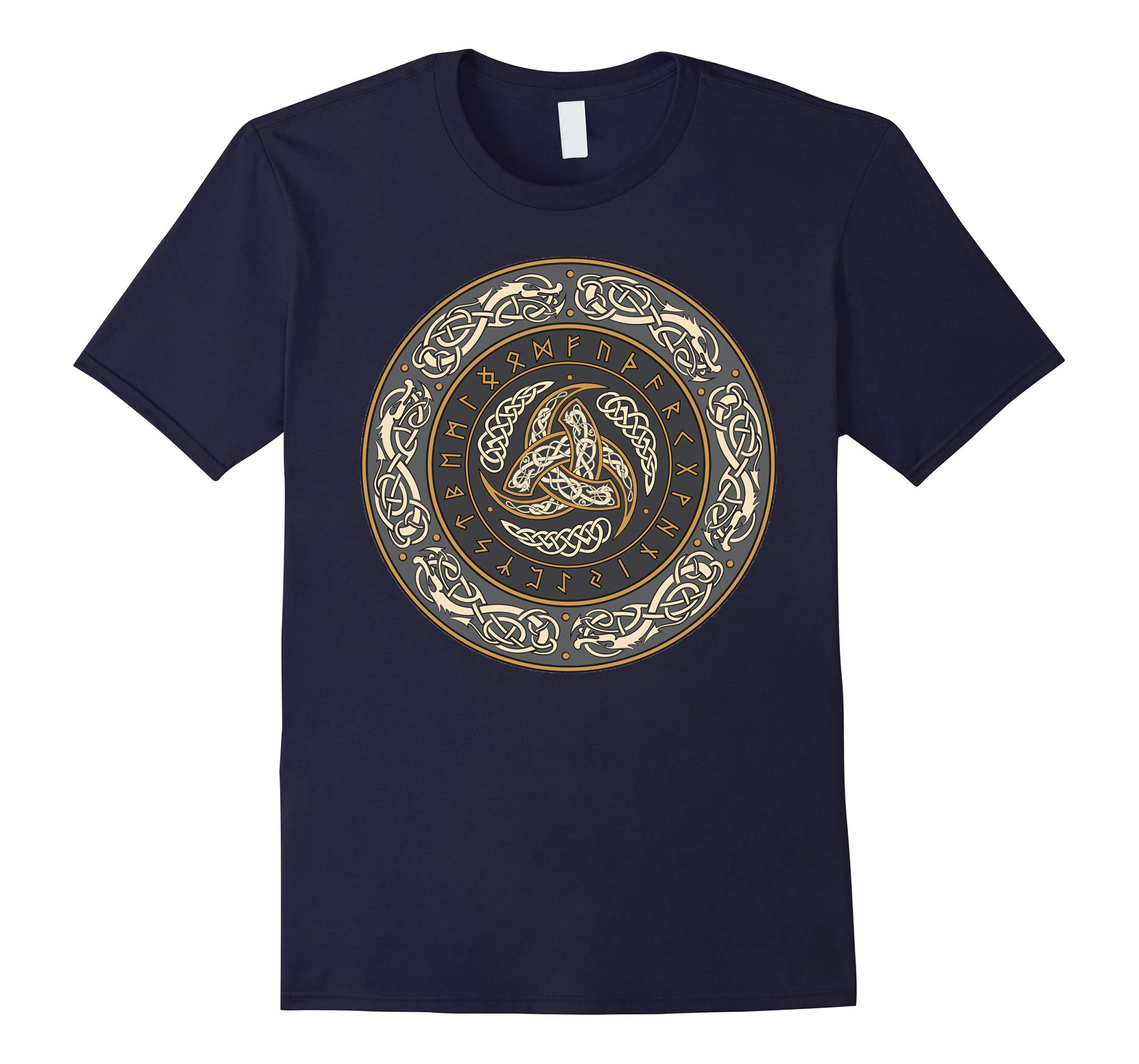 Horns of Odin Triskelion with Runes T-shirt-RT