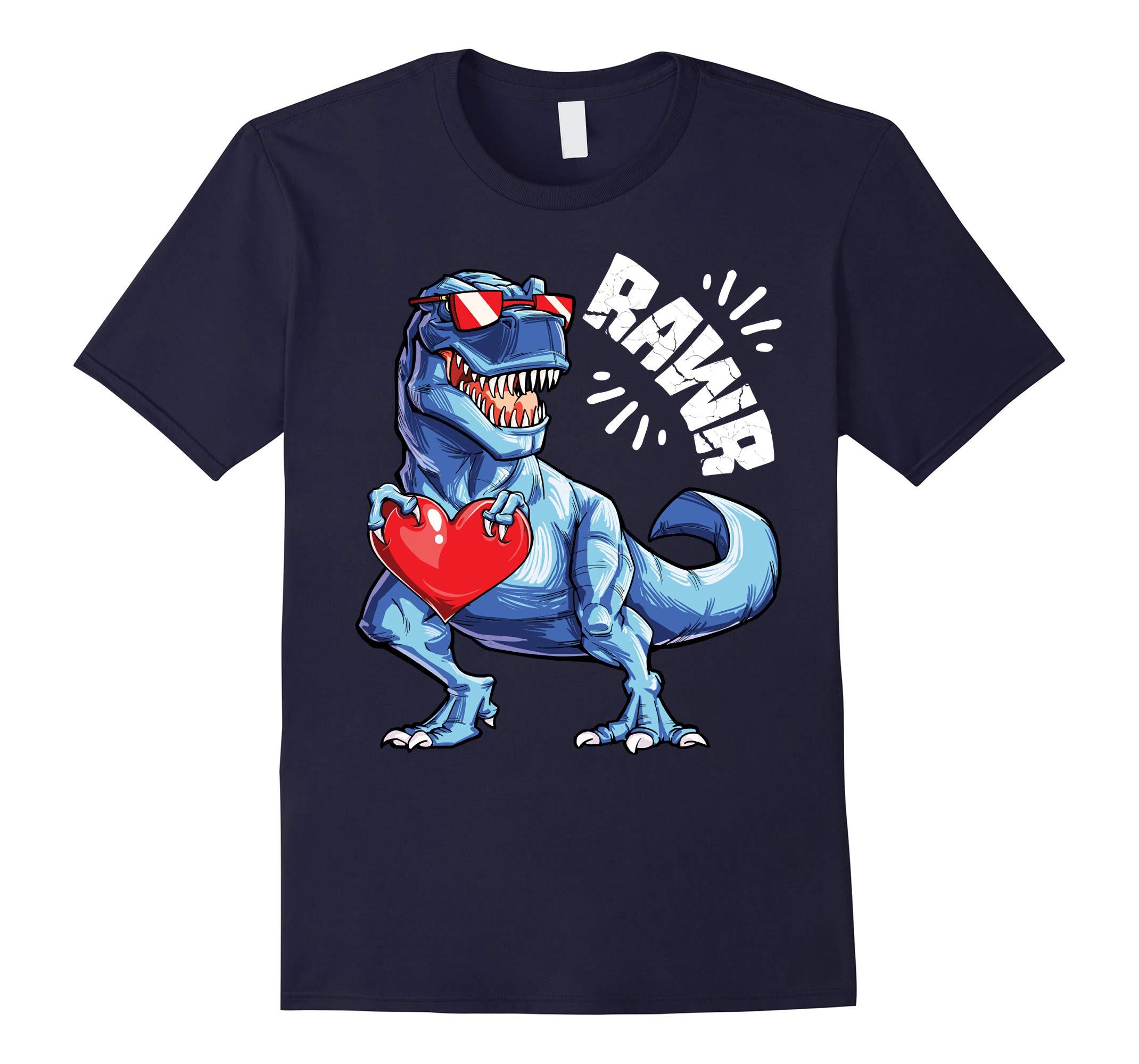 Valentines Day Dinosaur RAWR shirt Gifts Boys Kids T shirt-RT