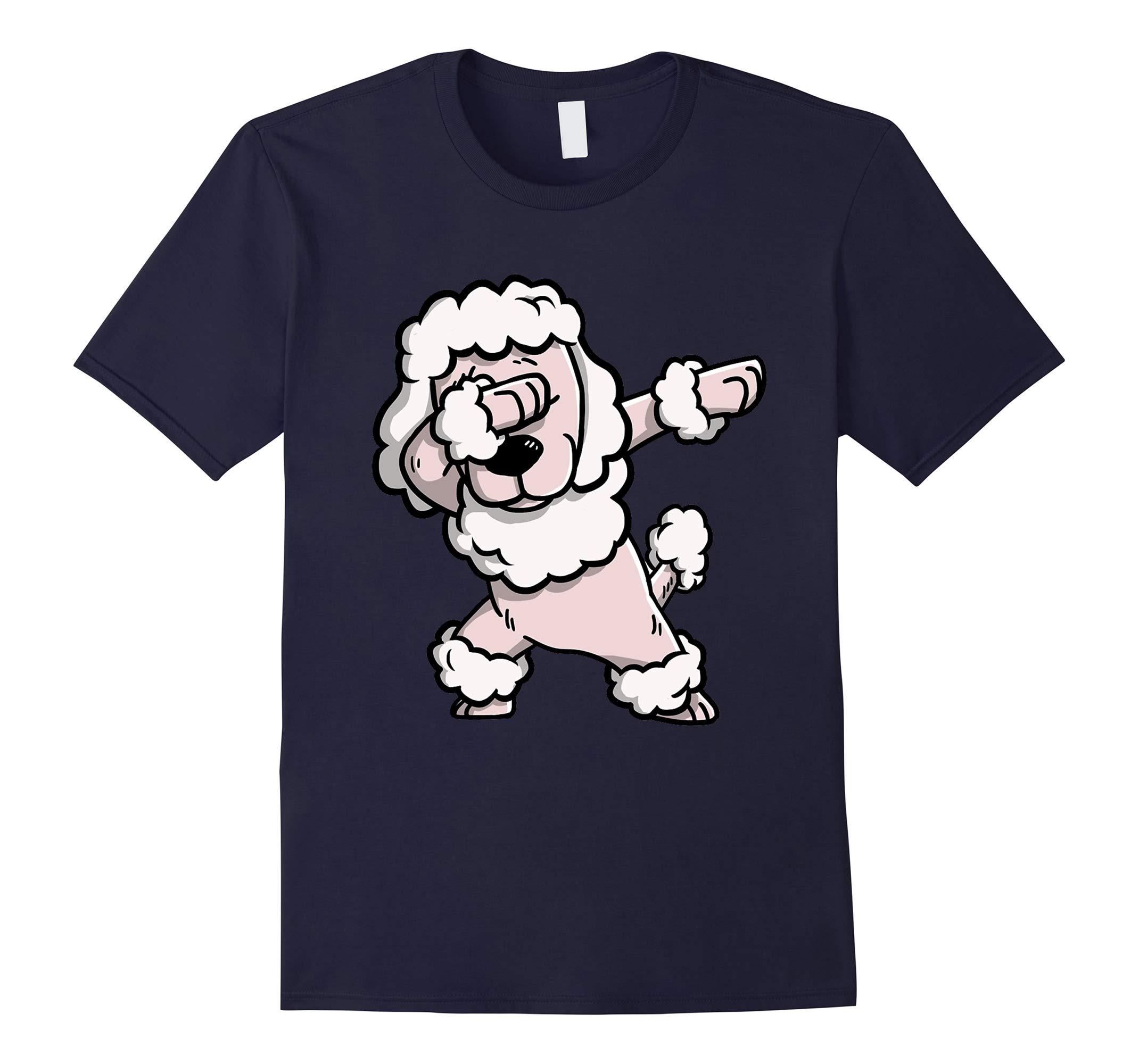 Dabbing Poodle Dog Cartoon Pet Troll T-Shirts-RT