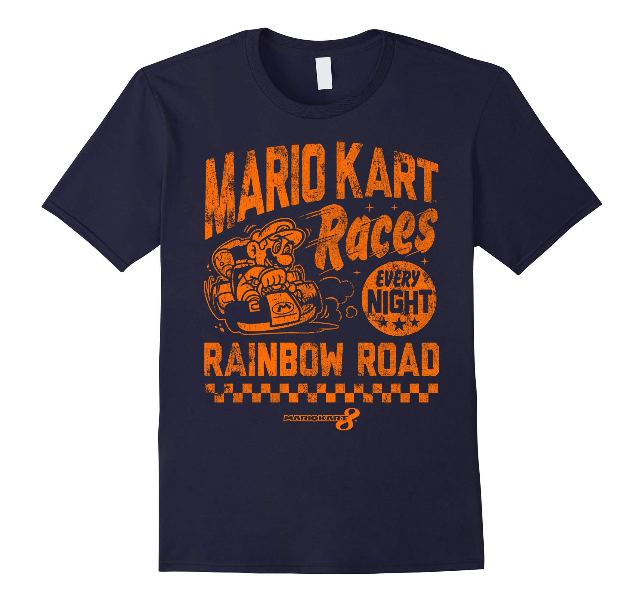 Nintendo Mario Kart Rainbow Road Vintage Graphic T-Shirt-RT