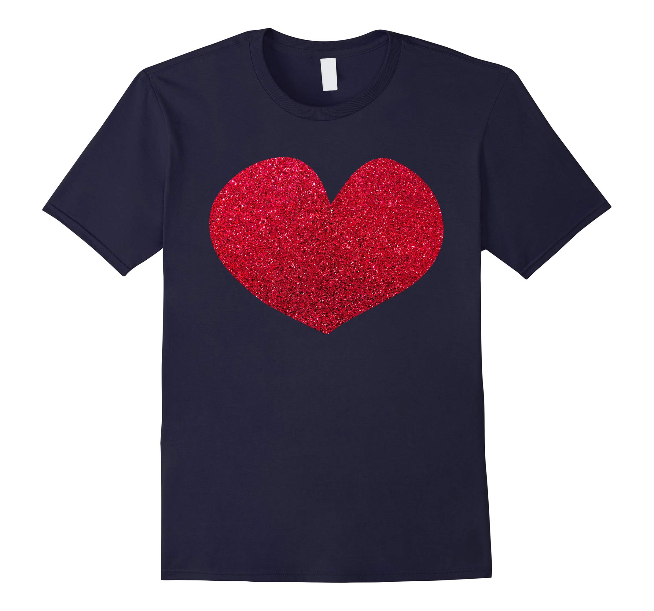 'Red Glitter Love' Cute Valentine's Day Heart Shape Shirt-RT