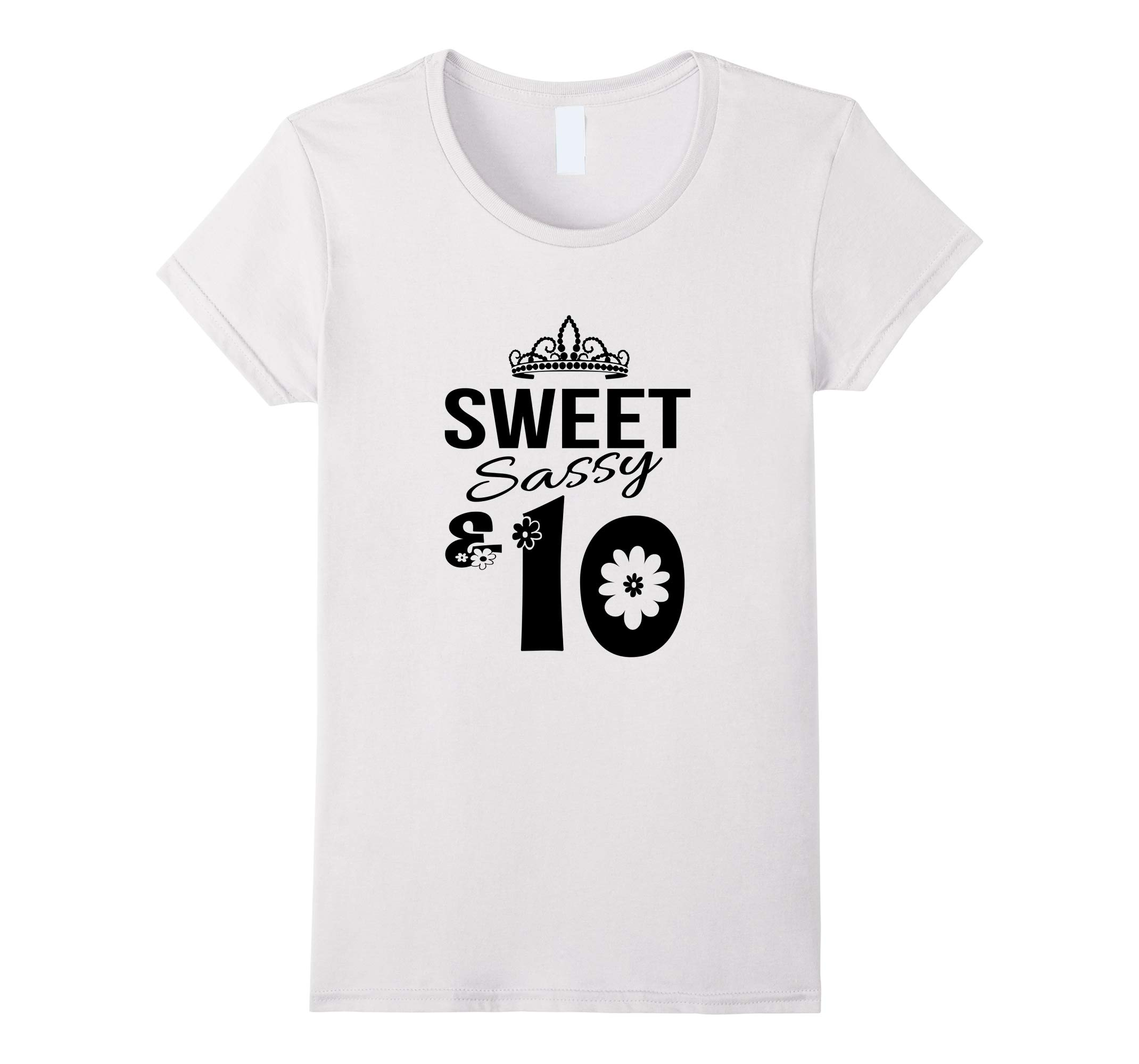 10th Birthday Shirt Ten Years Old Girls Outfit T-Shirt-RT
