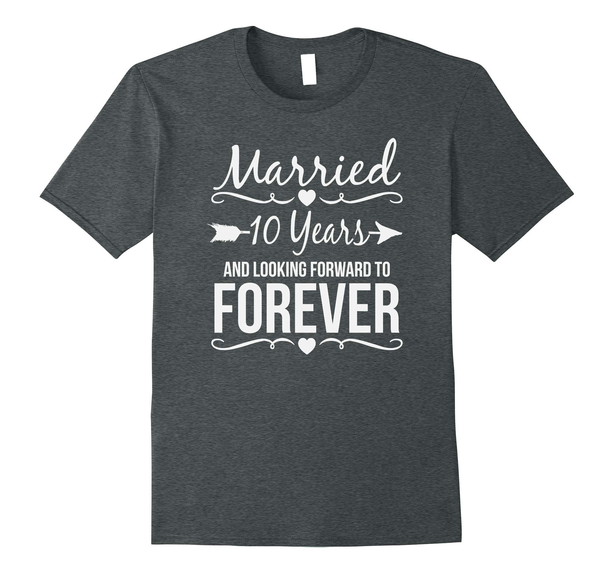 10th Year Anniversary Gifts Wedding Shirt Married 10 Years Rt Rateeshirt