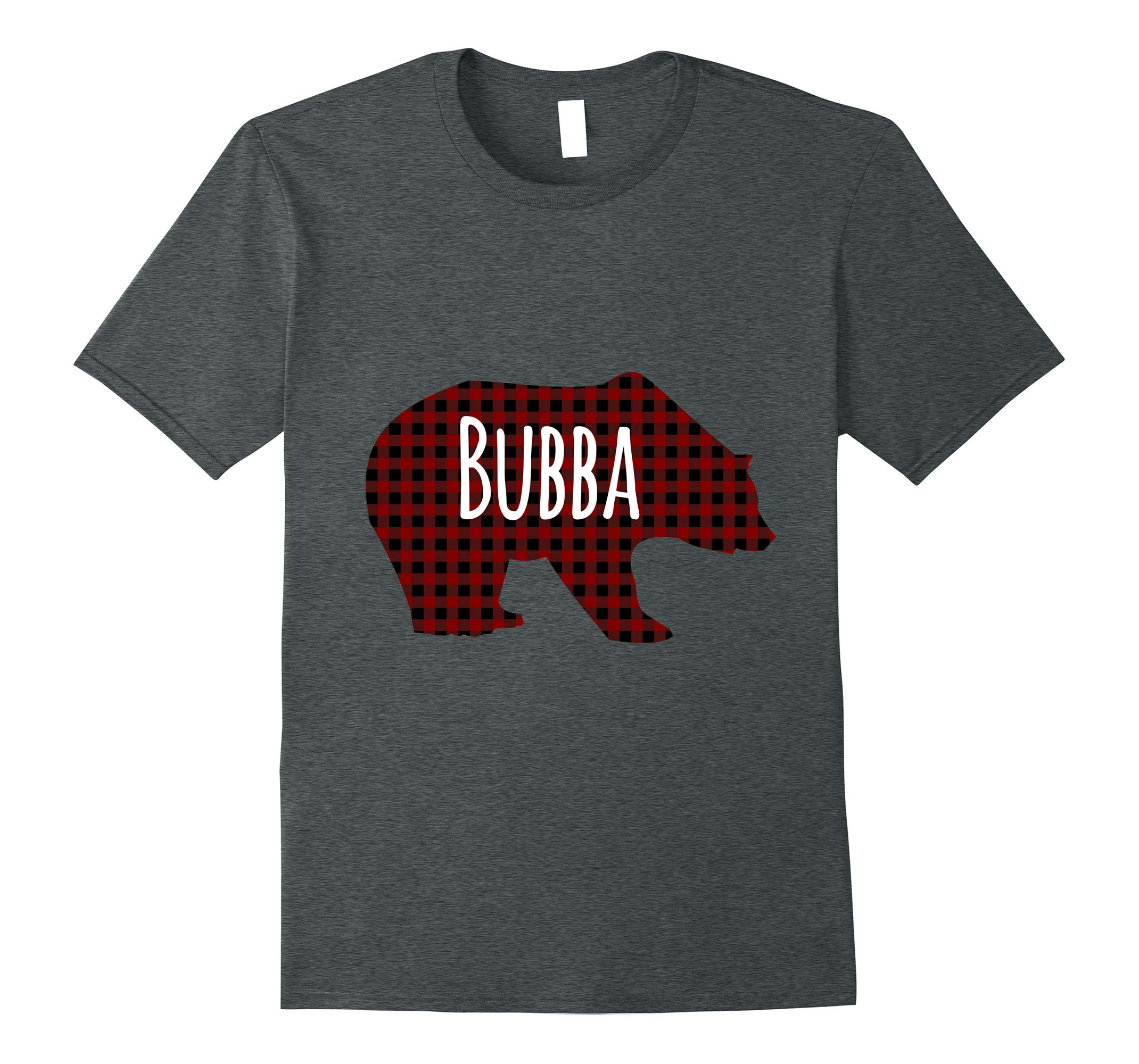 Red Plaid Bubba Bear Buffalo Matching Family Pajama T-Shirt-RT