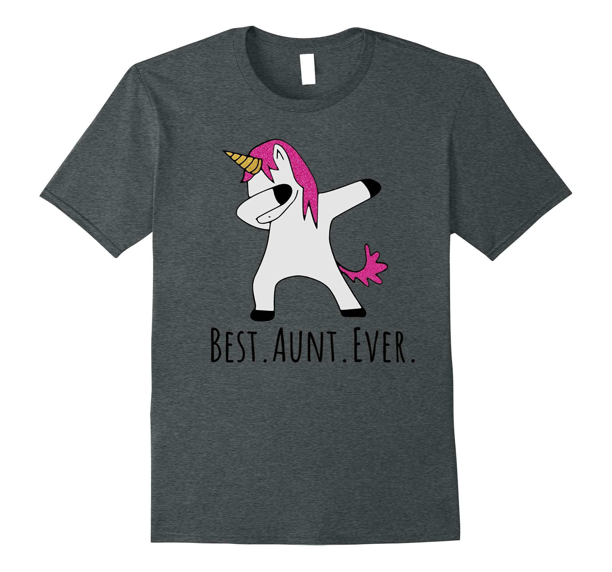 Best Aunt Ever Dabbing Unicorn T-Shirt-RT