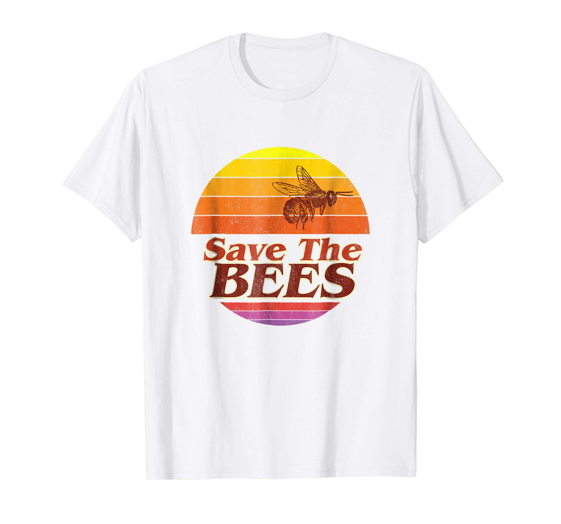 Save The Bees T-shirt Flower Men Women Vintage Retro Fashion-AZP