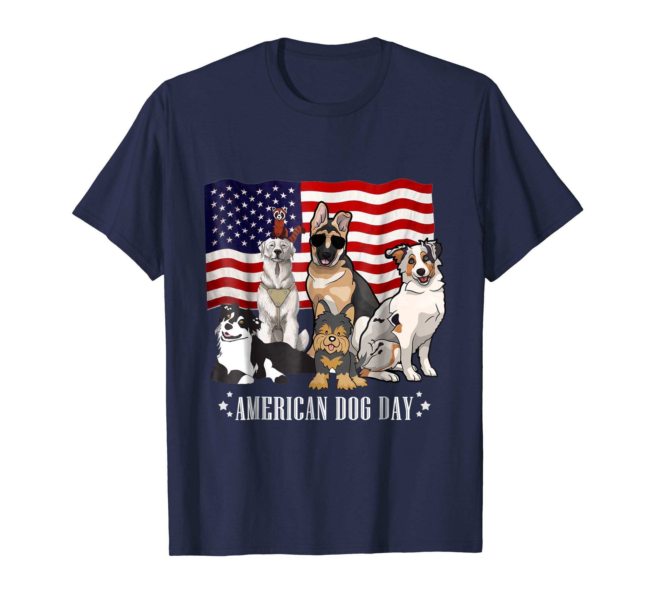 National Dog Day T-Shirt All Dog Breeds-AZP