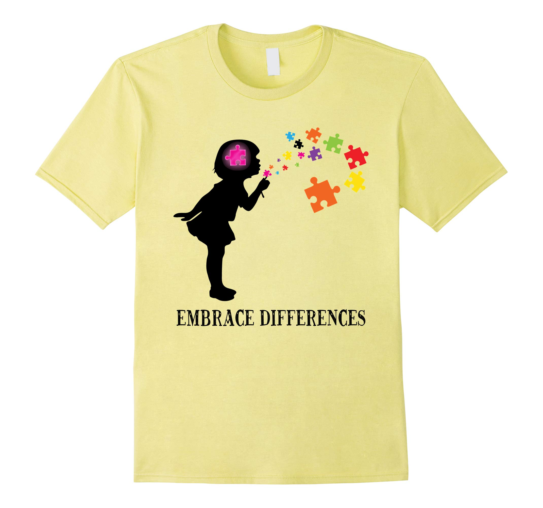 'Embrace Differences' Awesome Autism Awareness Shirt-RT